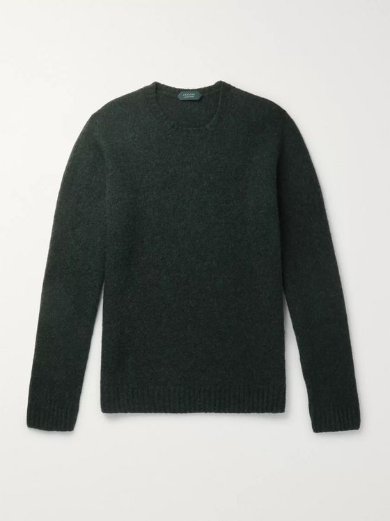 Incotex Slim-Fit Mélange Virgin Wool Sweater