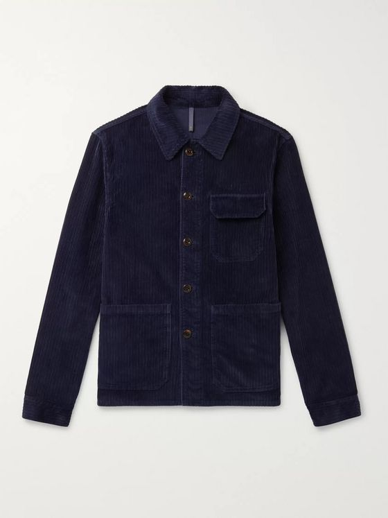 Incotex Cotton-Corduroy Shirt Jacket