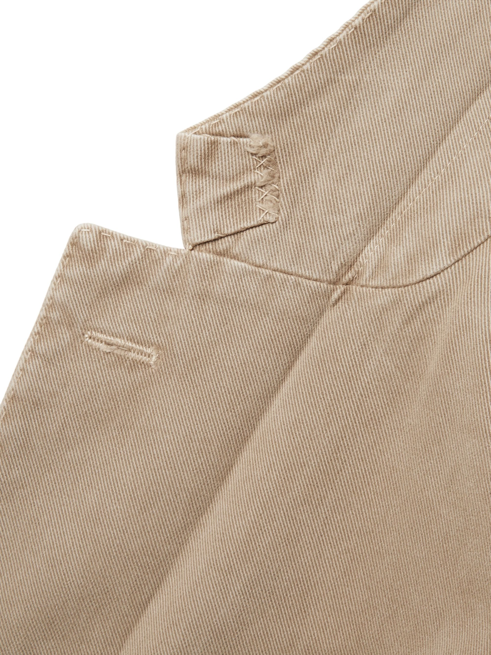 Incotex Beige Garment-Dyed Cotton and Cashmere-Blend Twill Blazer