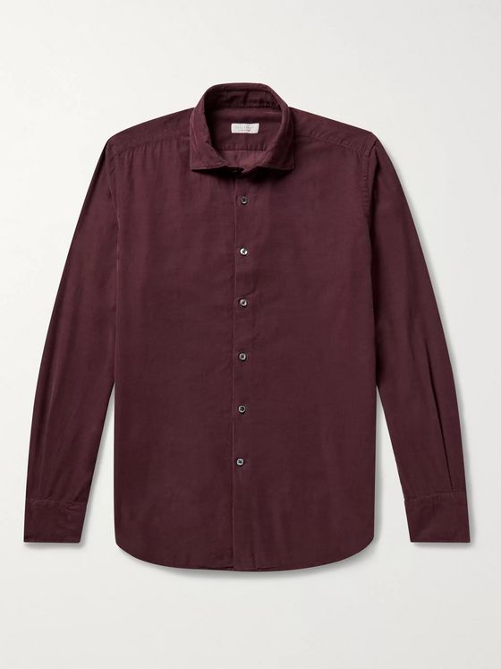 Incotex Slim-Fit Cotton-Corduroy Shirt