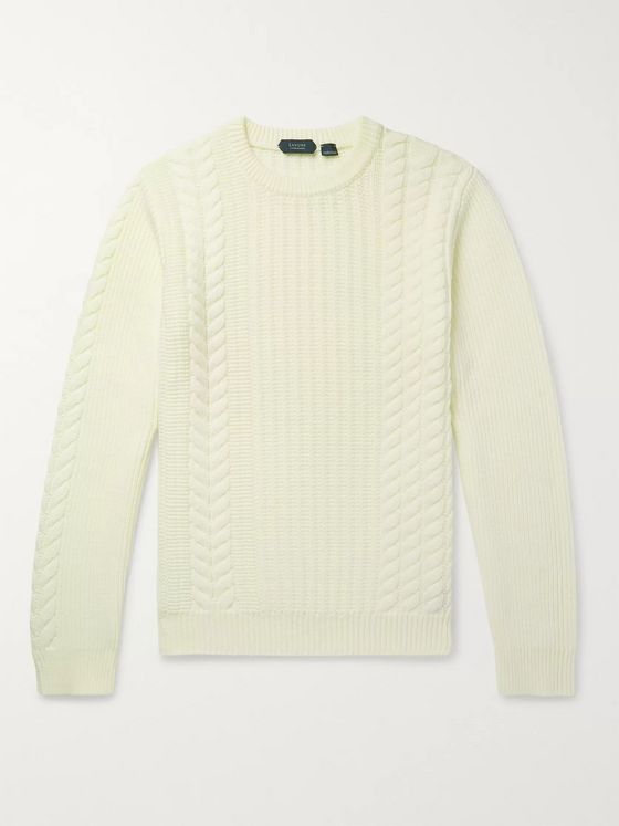 Incotex Slim-Fit Cable-Knit Virgin Wool Sweater