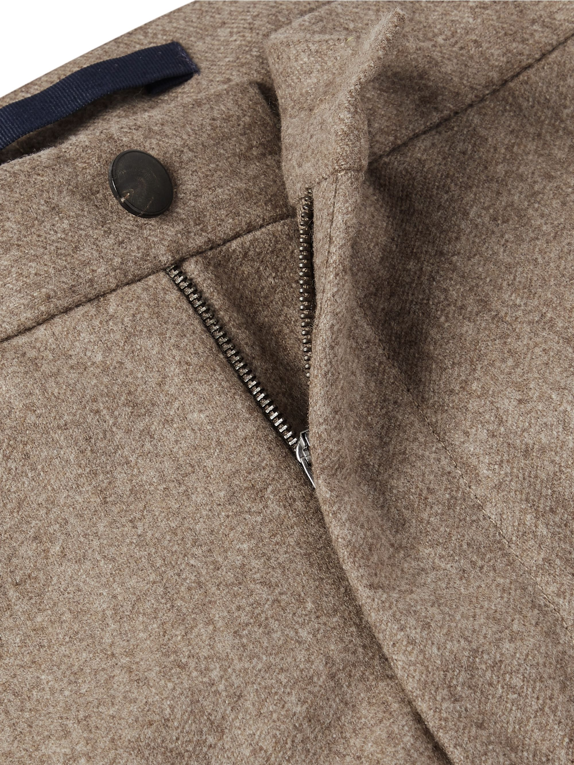 Incotex Slim-Fit Brushed Wool-Twill Trousers