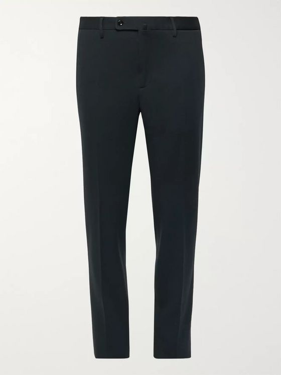 Incotex Midnight-Blue Slim-Fit Woven Trousers