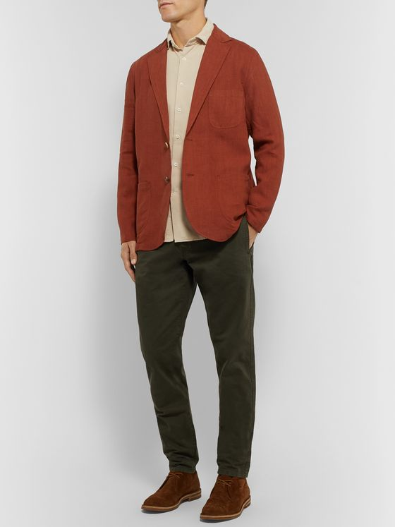 Incotex Fellini Slim-Fit Cotton-Corduroy Shirt