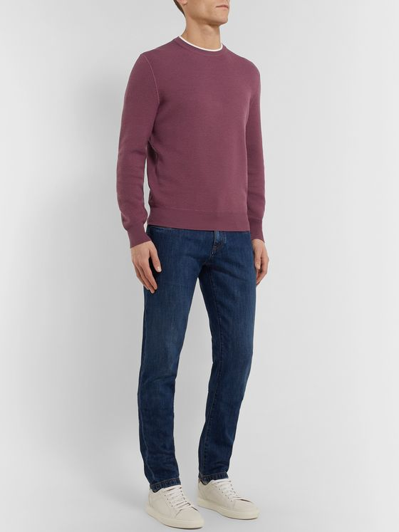 Ermenegildo Zegna Contrast-Tipped Wool Sweater