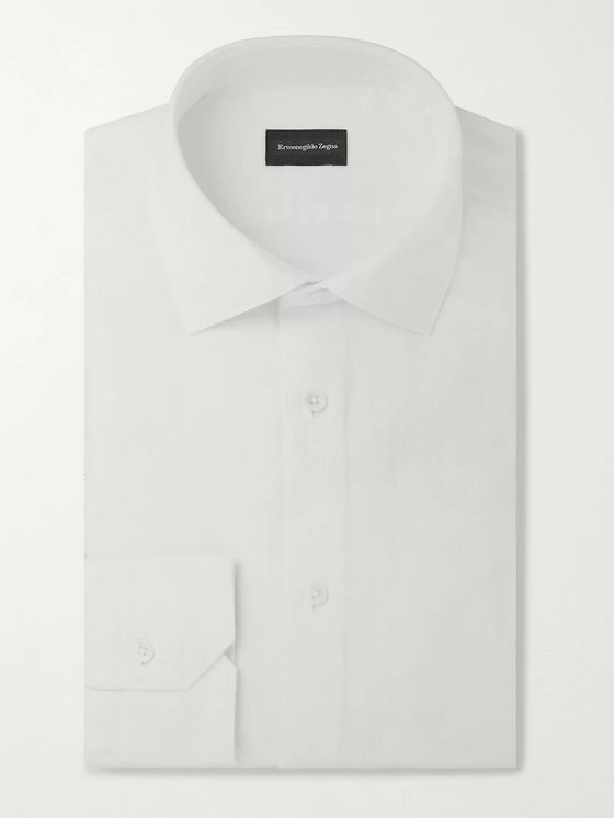 Ermenegildo Zegna White Slim-Fit Cotton Shirt