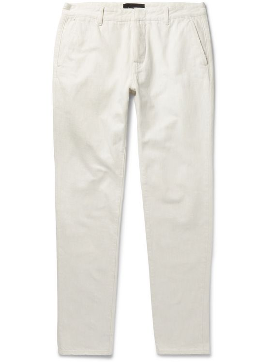 Ermenegildo Zegna Slim-Fit Tapered Denim Chinos