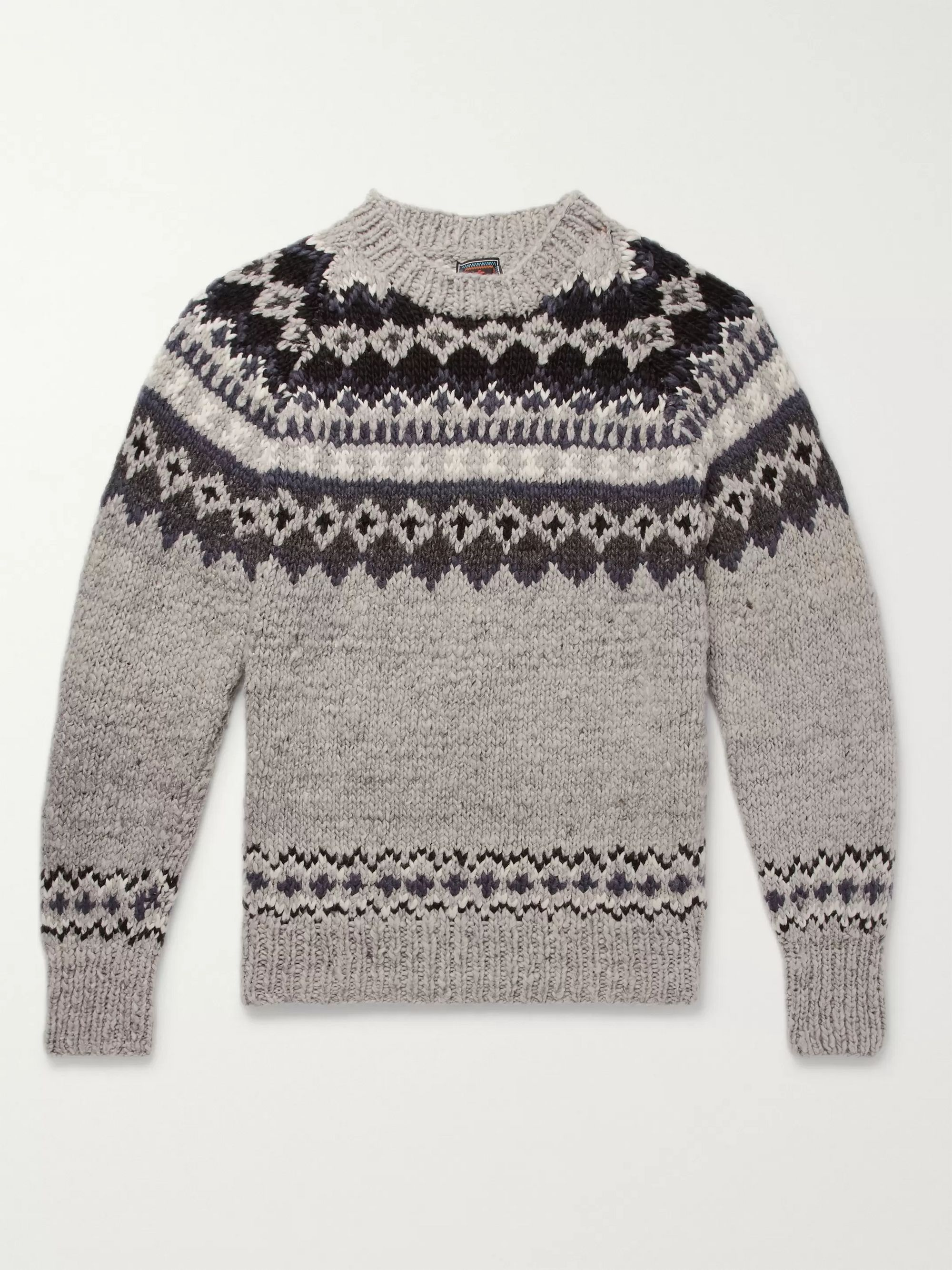 Monitaly + Chamula Fair Isle Merino Wool Sweater