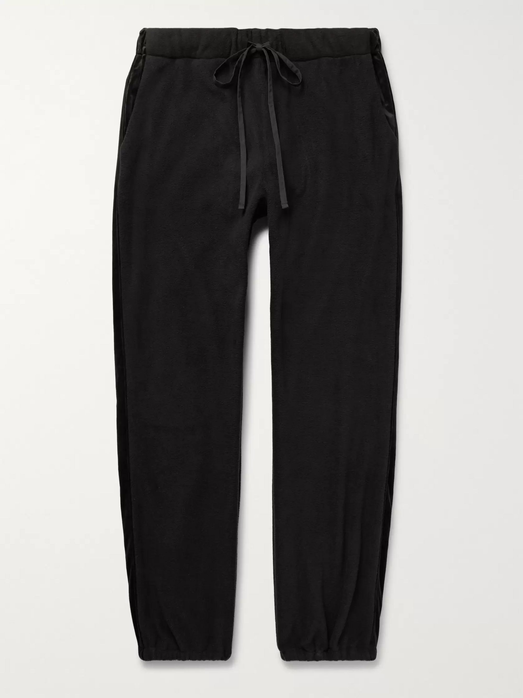 Monitaly Kog Risu Velvet-Trimmed Fleece Sweatpants