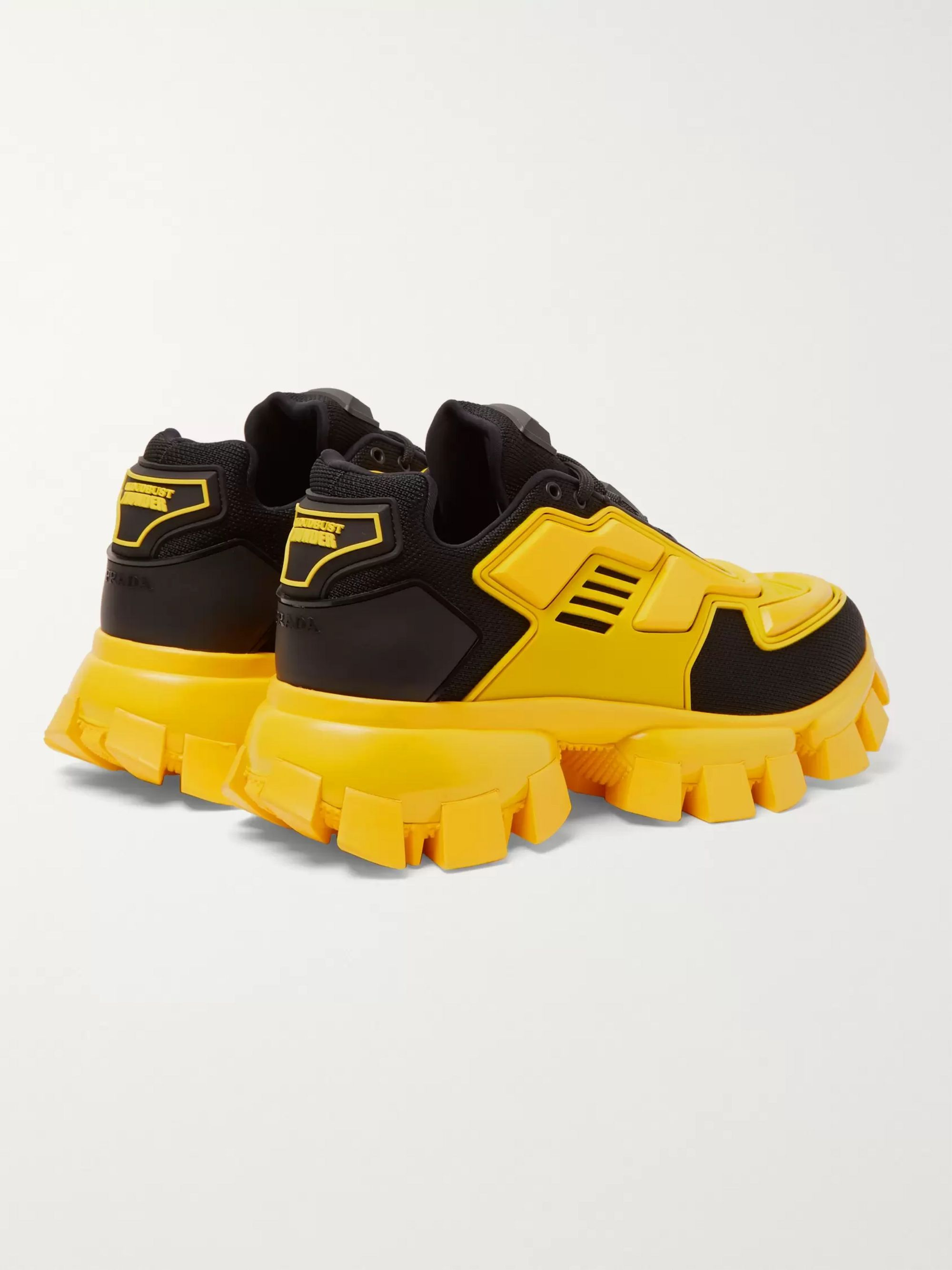 Prada Cloudbust Thunder Rubber and Mesh Sneakers