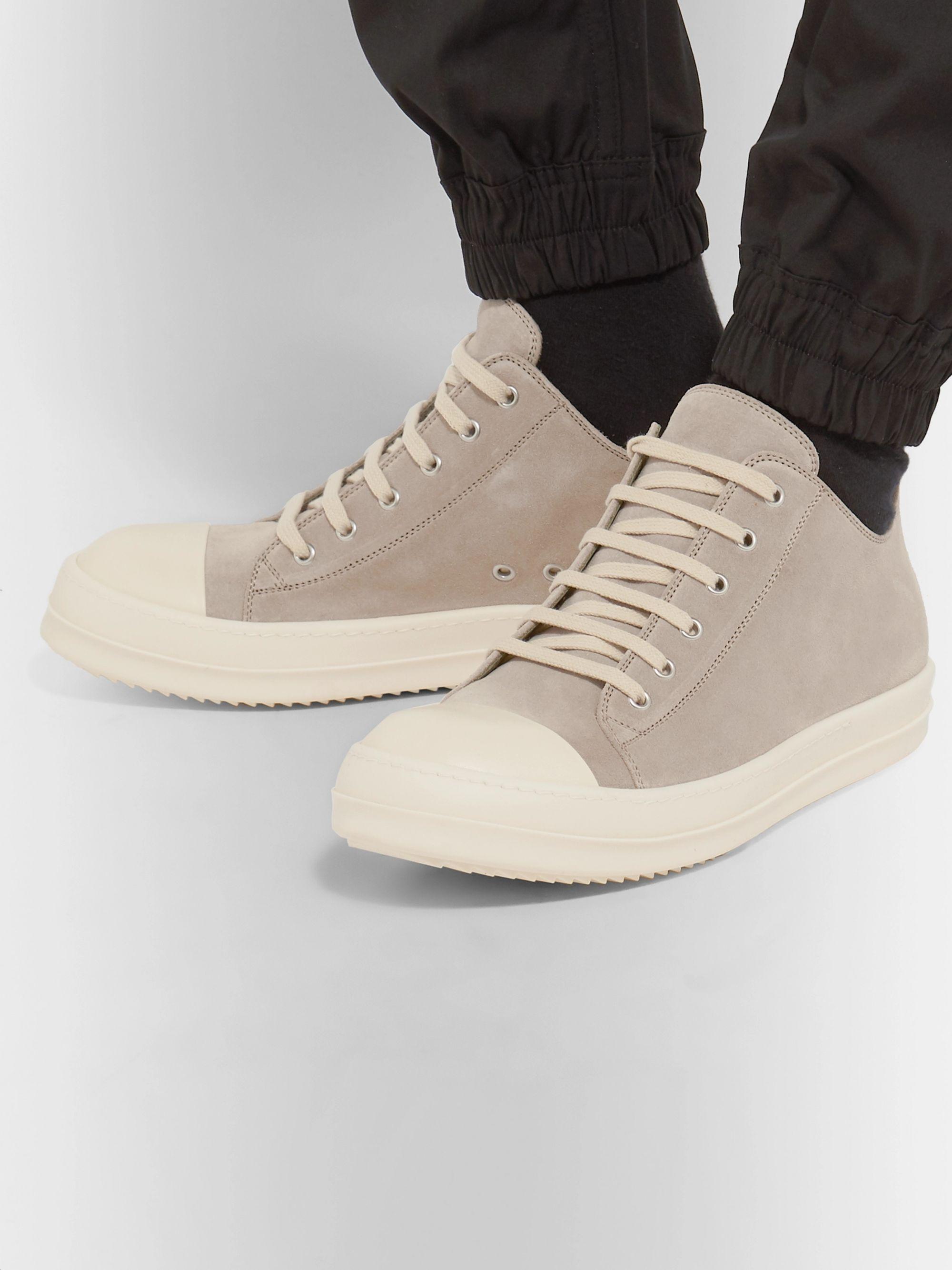 Cap Toe Suede Sneakers