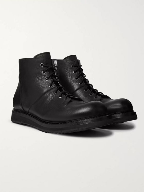 Rick Owens Full-Grain Leather Monkey Boots