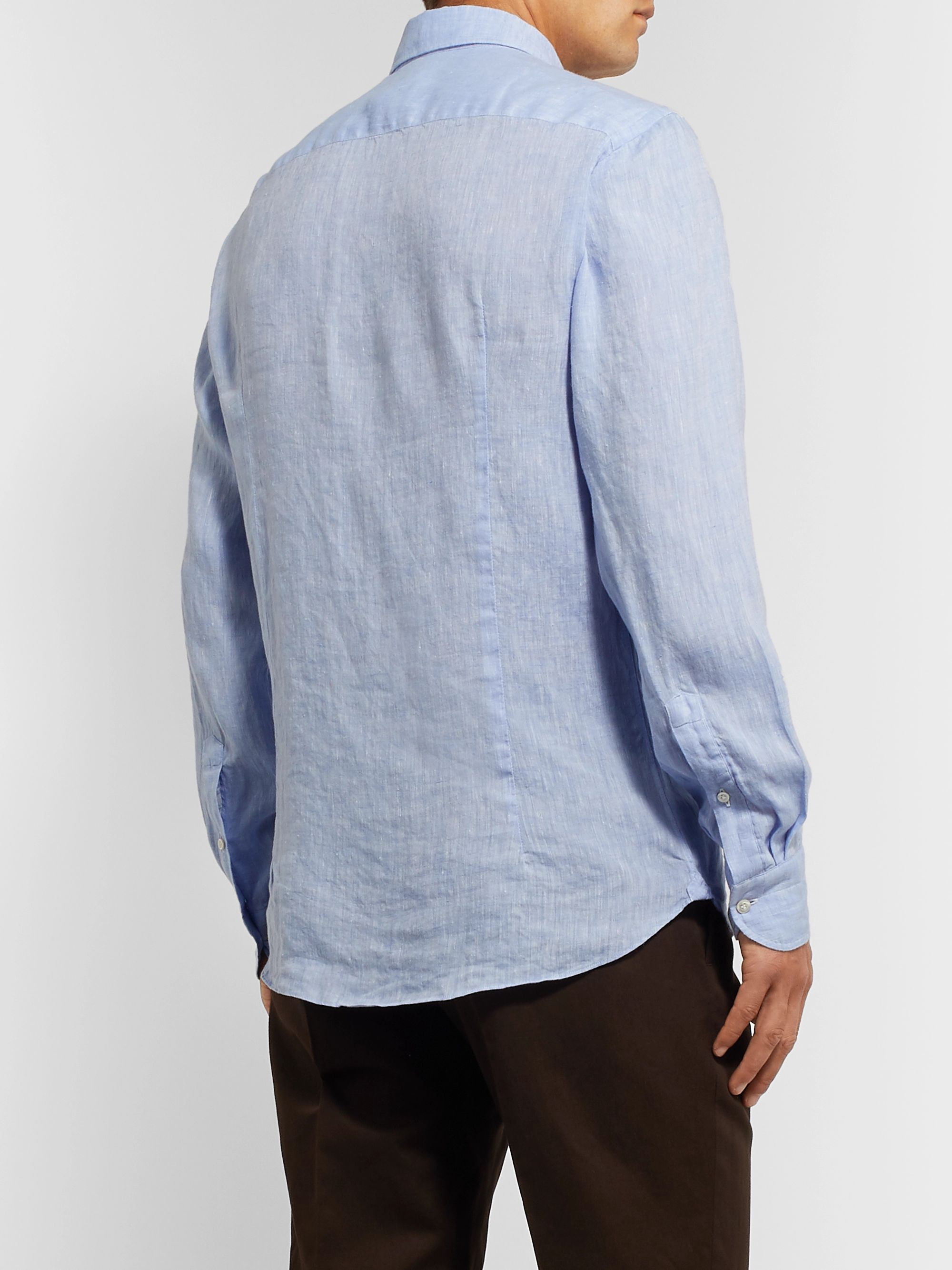 Caruso Slim-Fit Linen Shirt