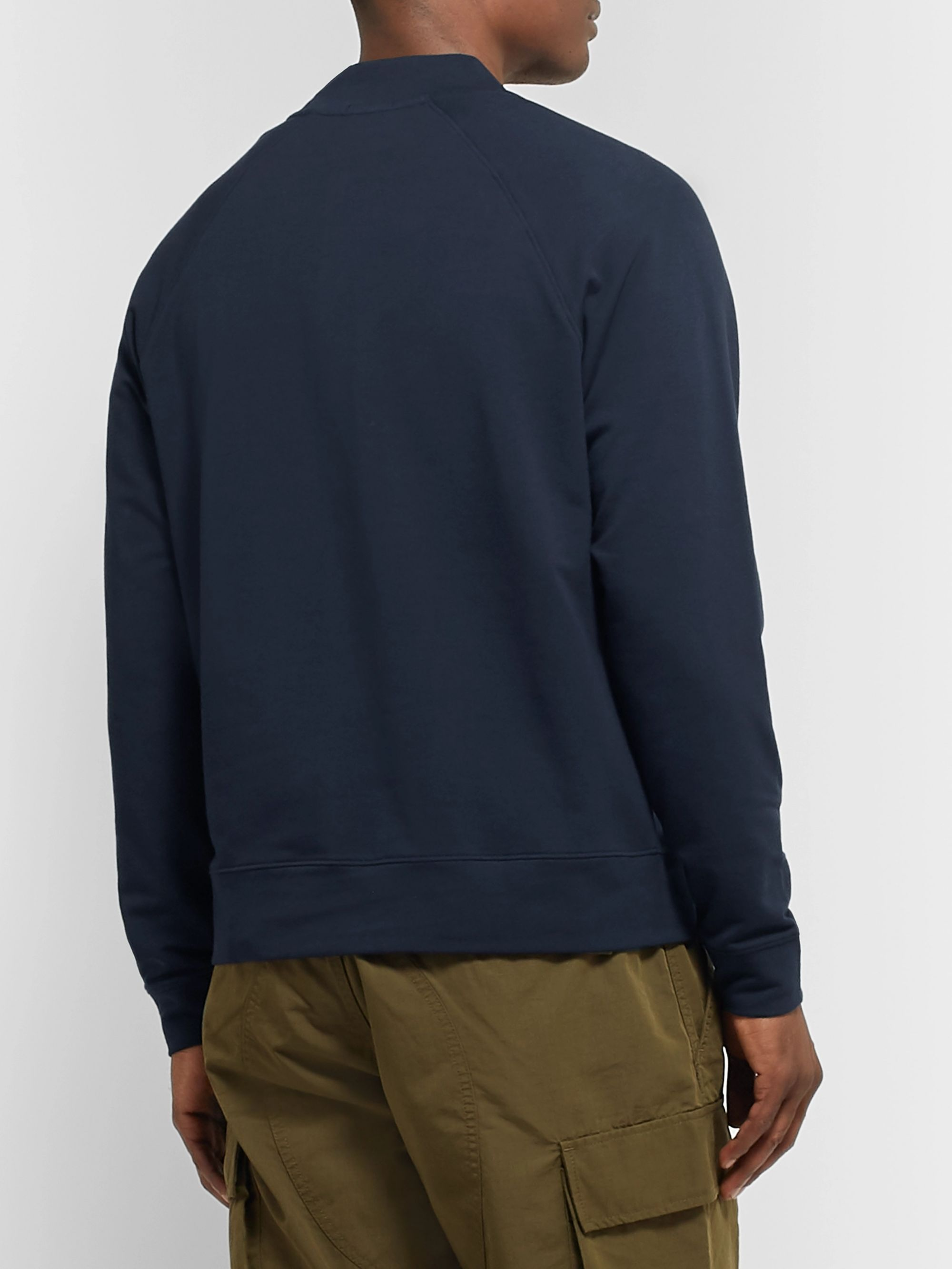 Handvaerk Loopback Stretch-Pima Cotton Flex Bomber Jacket