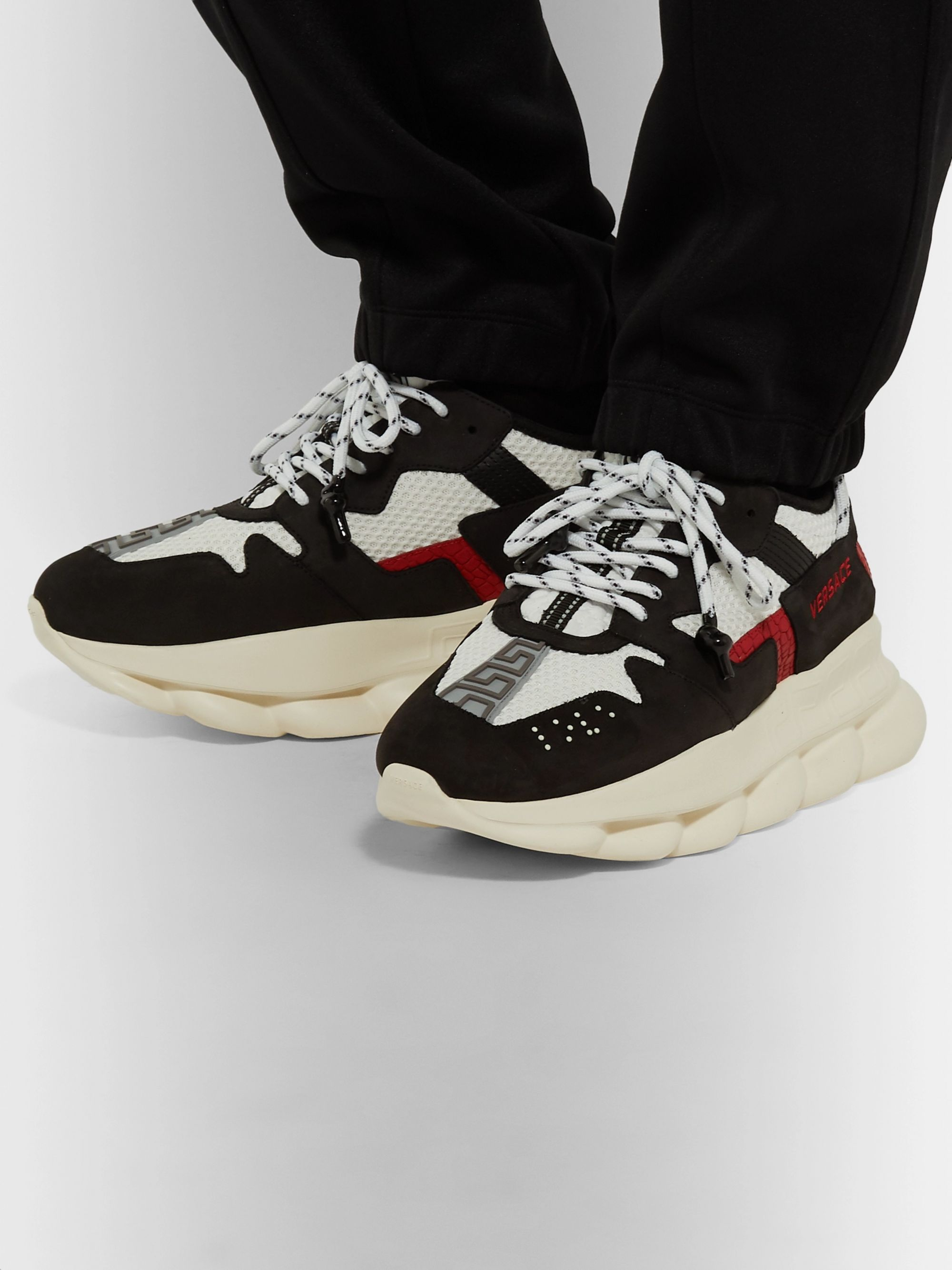 Chain Reaction 2.0 Panelled Suede and Mesh Sneakers