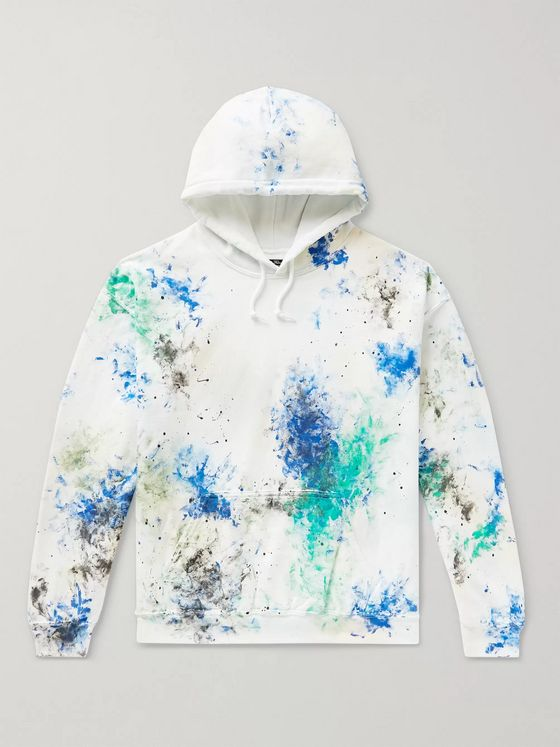 Sasquatchfabrix. Paint-Splattered Fleece-Back Cotton-Blend Jersey Sweatshirt