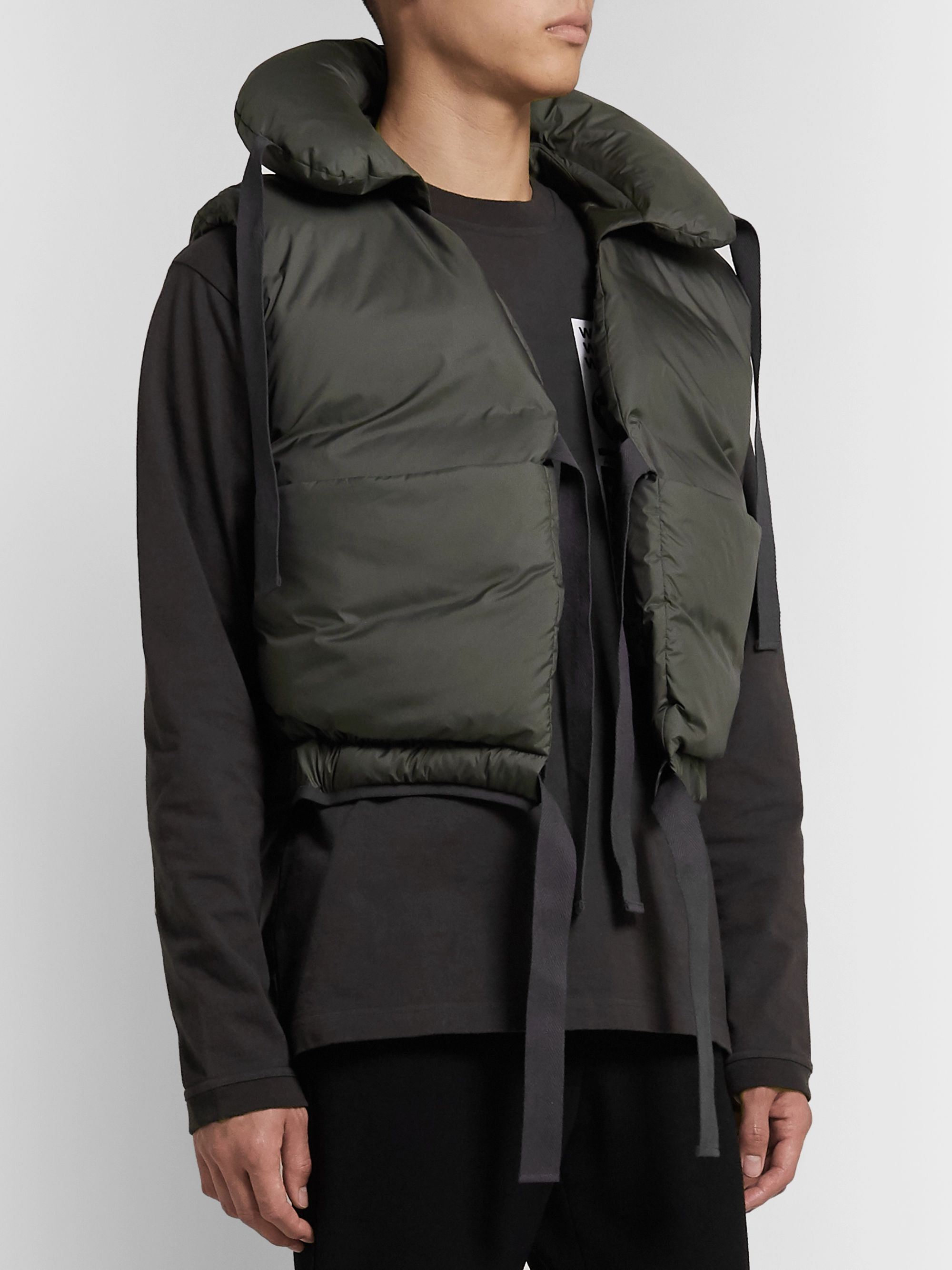 Sasquatchfabrix. Quilted Shell Down Gilet
