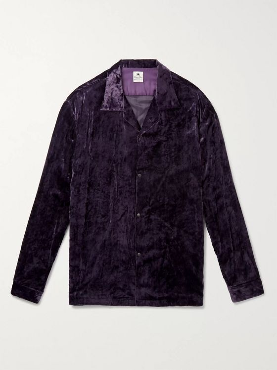 Sasquatchfabrix. Camp-Collar Velvet Shirt