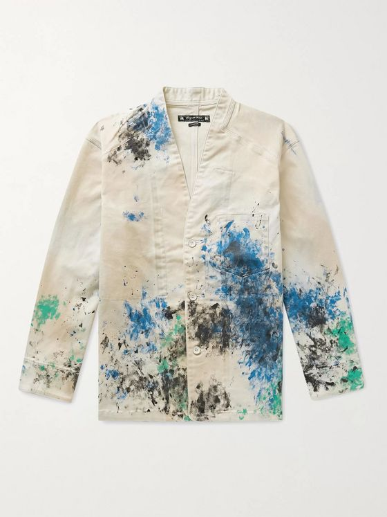 Sasquatchfabrix. Paint-Splattered Cotton-Blend Twill Jacket