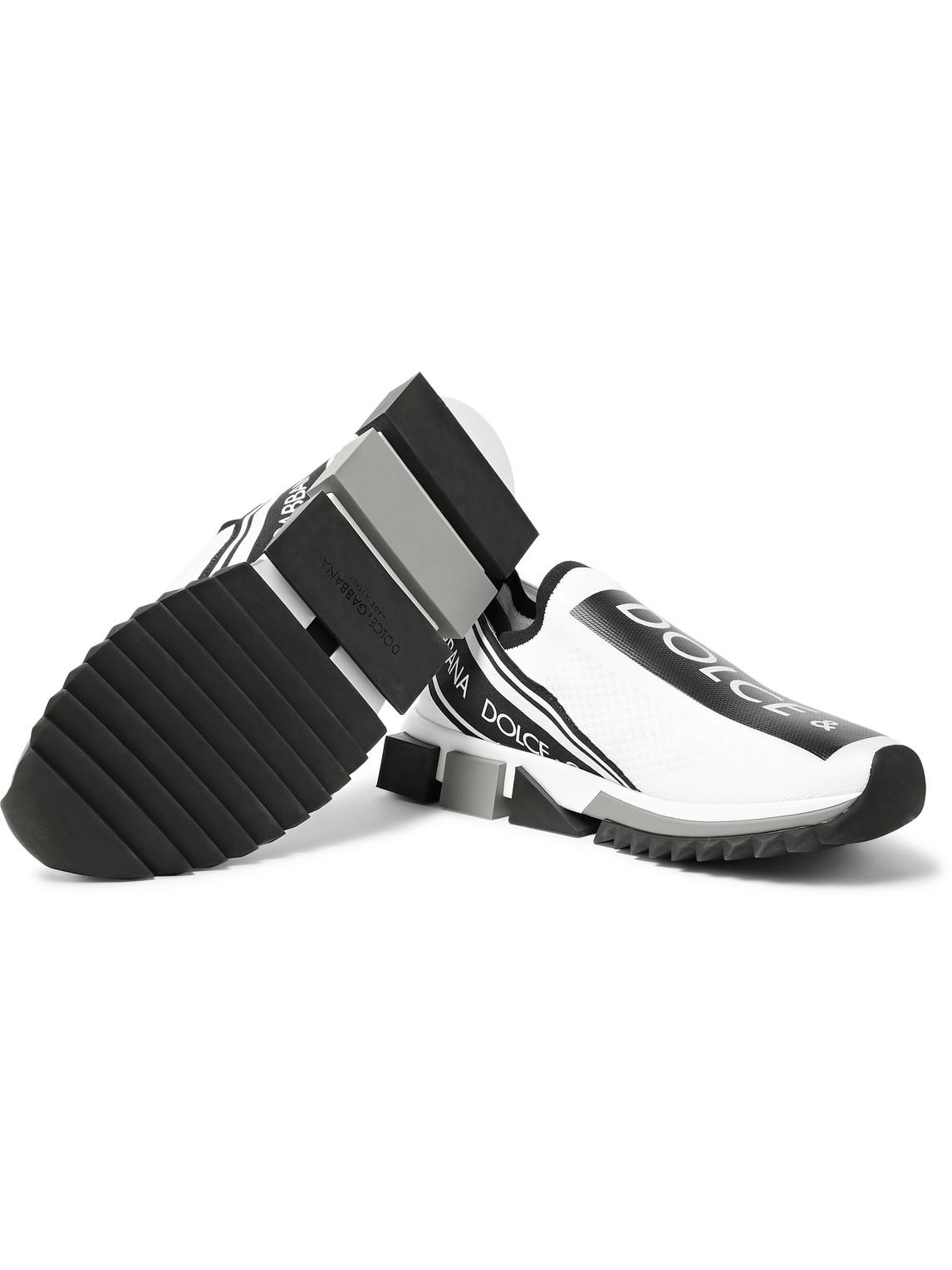 Dolce & Gabbana Sneakers SORRENTO LOGO-PRINT STRETCH-KNIT SLIP-ON SNEAKERS