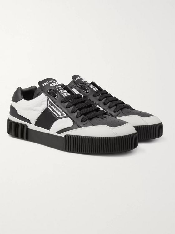 Dolce & Gabbana Leather and Nylon Sneakers