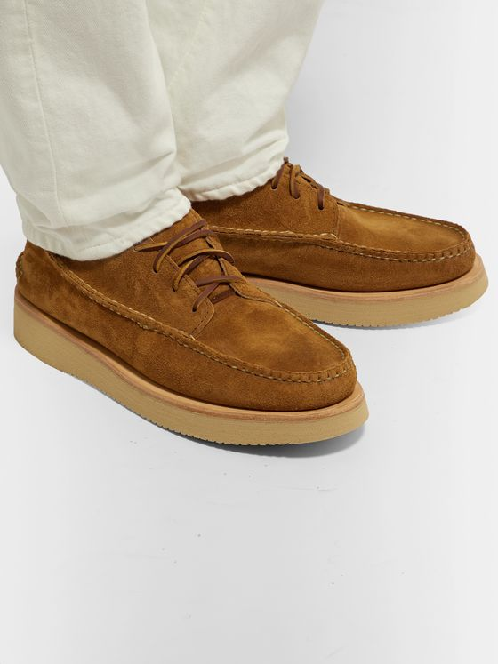YUKETEN Maine Guide Suede Derby Shoes