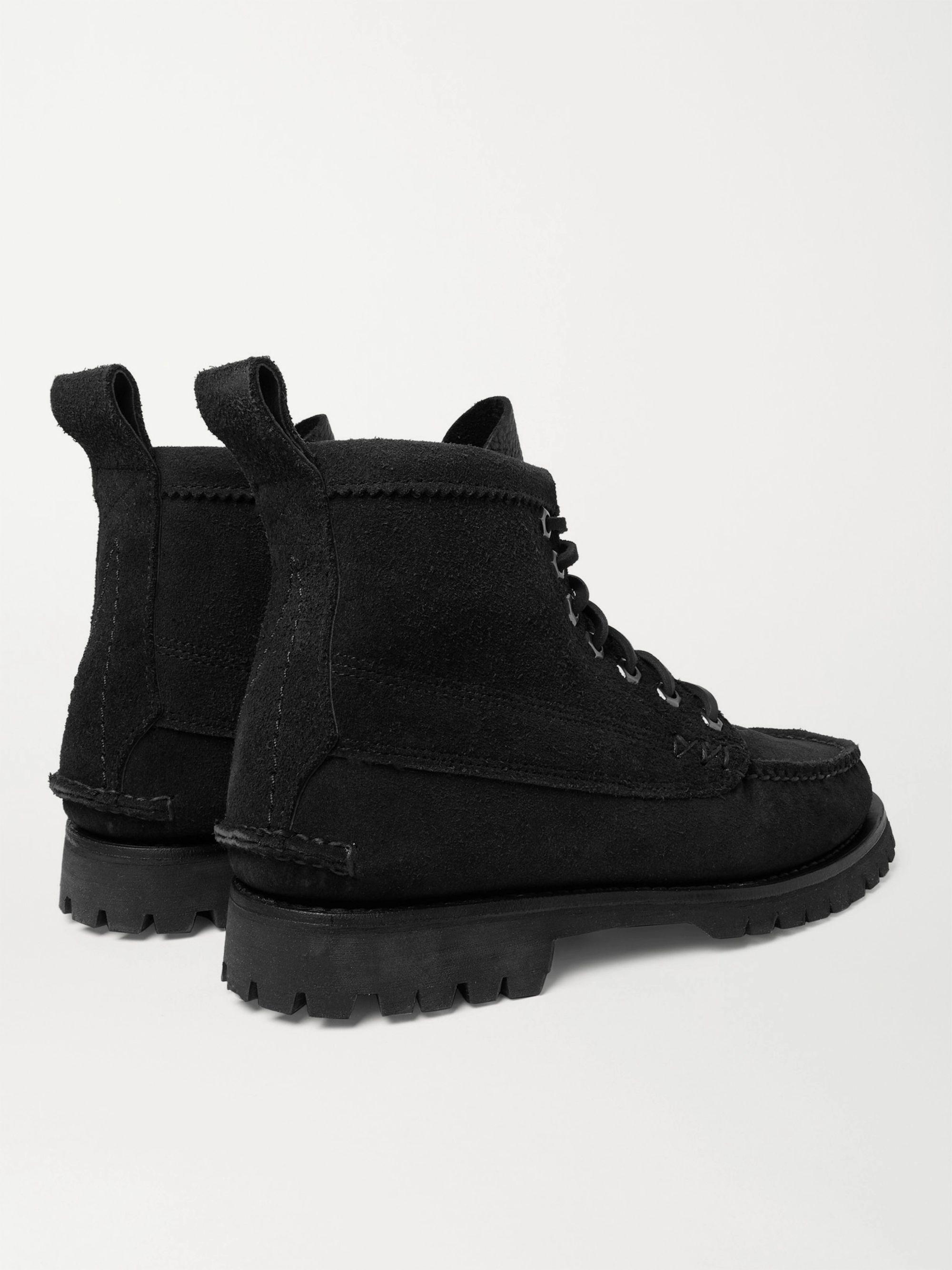 Black Angler Textured-leather Boots   Yuketen