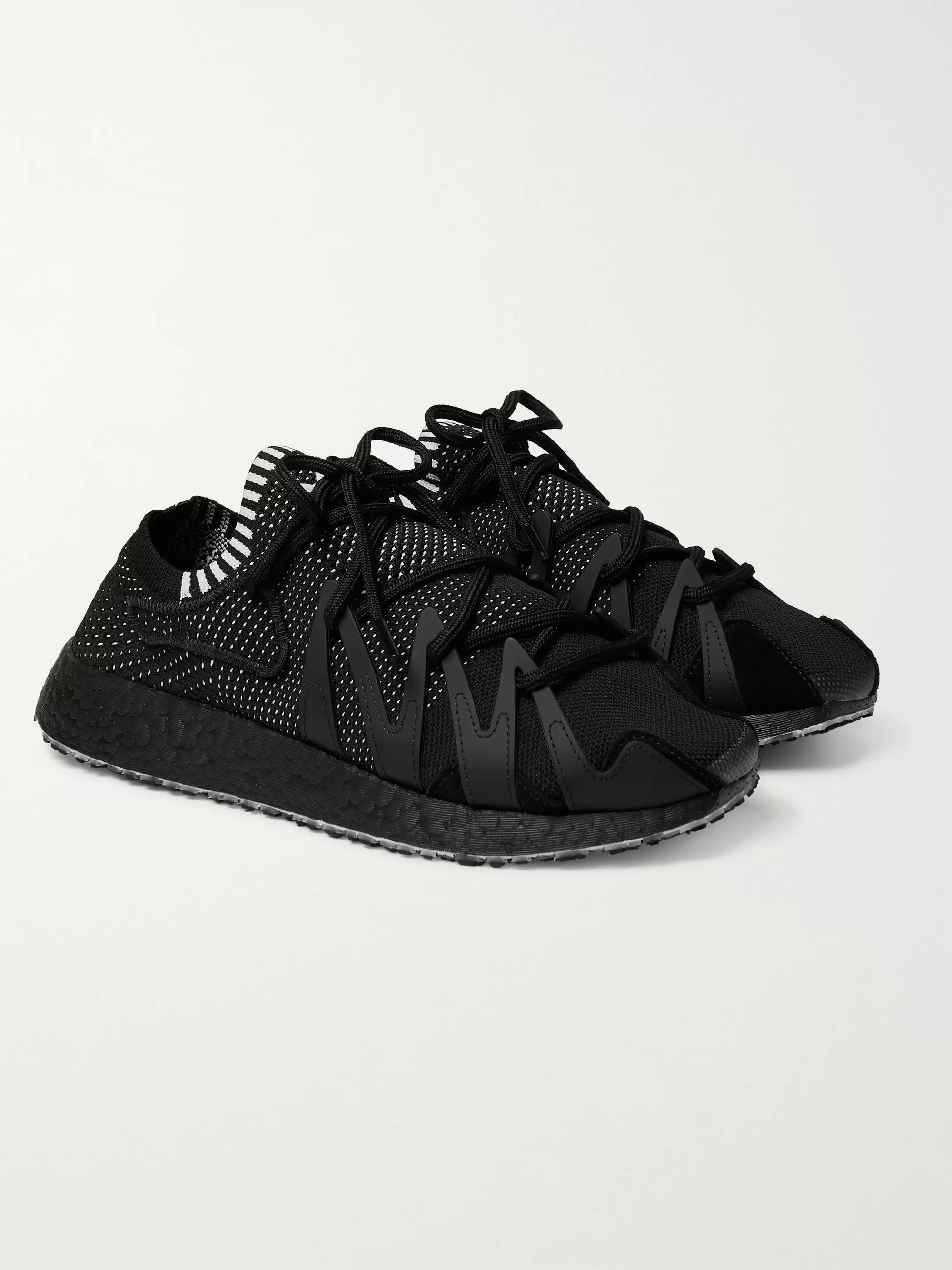 Y-3 Y-3 Raito Racer Rubber and Suede-Trimmed Primeknit Sneakers