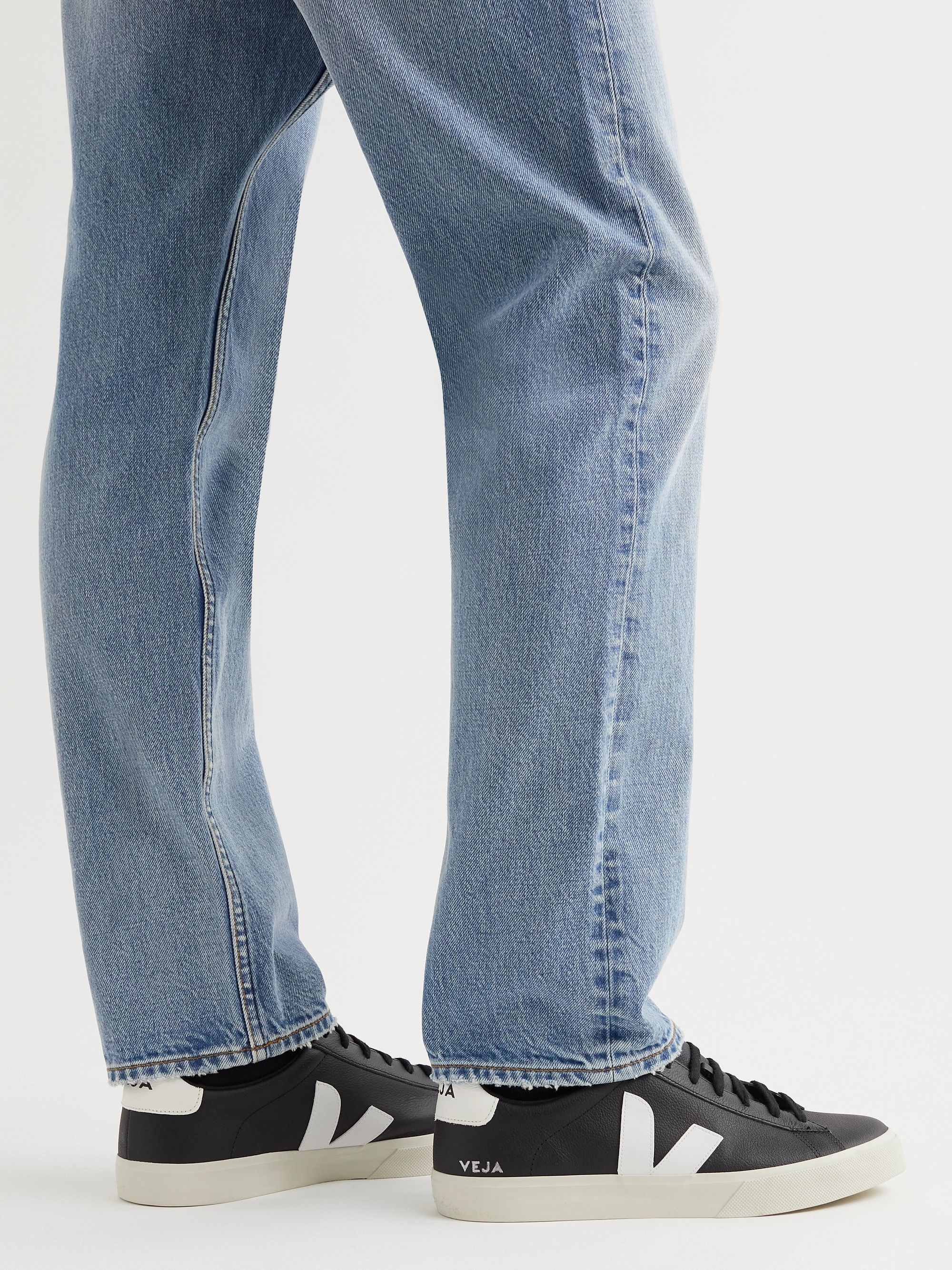 Veja Campo Suede-Trimmed Leather Sneakers