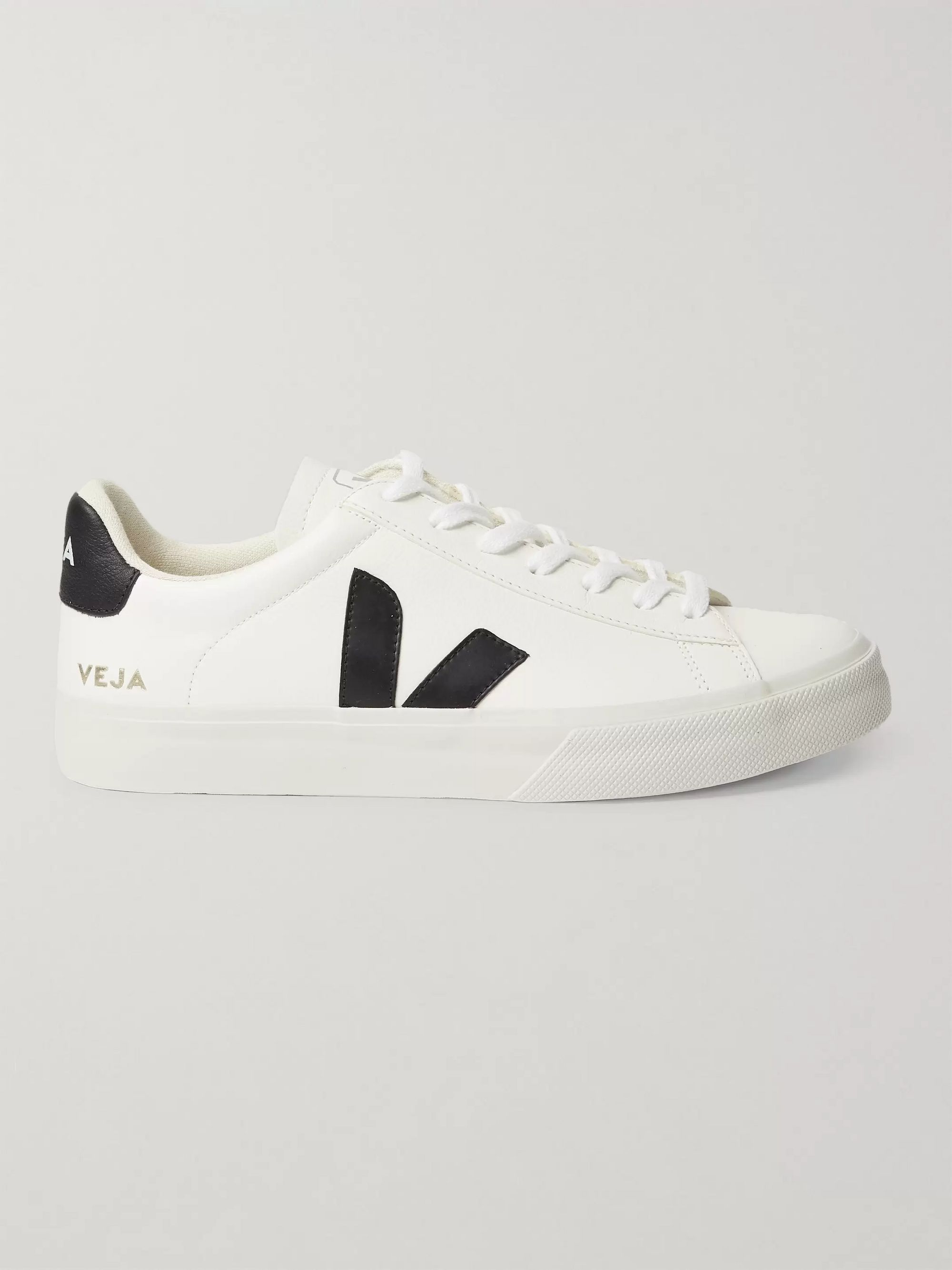 Veja Campo Rubber-Trimmed Leather Sneakers