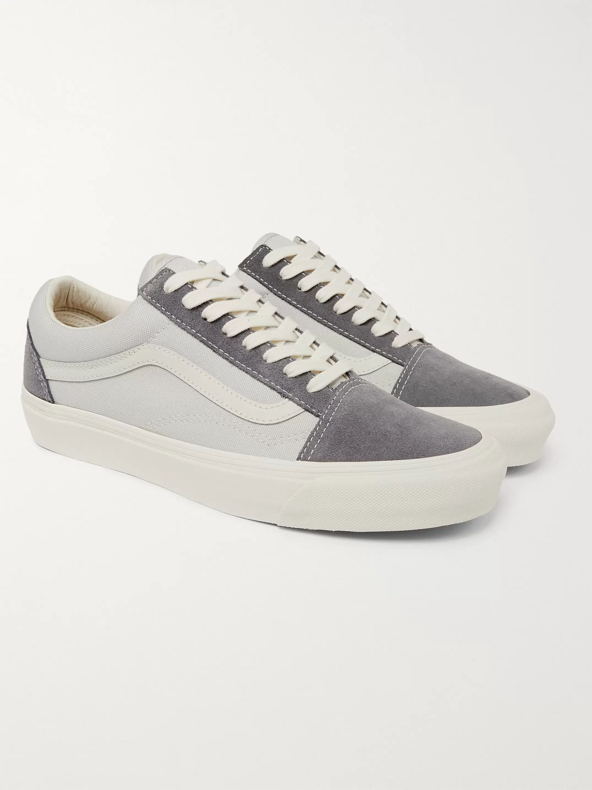 OG Old Skool LX Leather Trimmed Suede and Canvas Sneakers