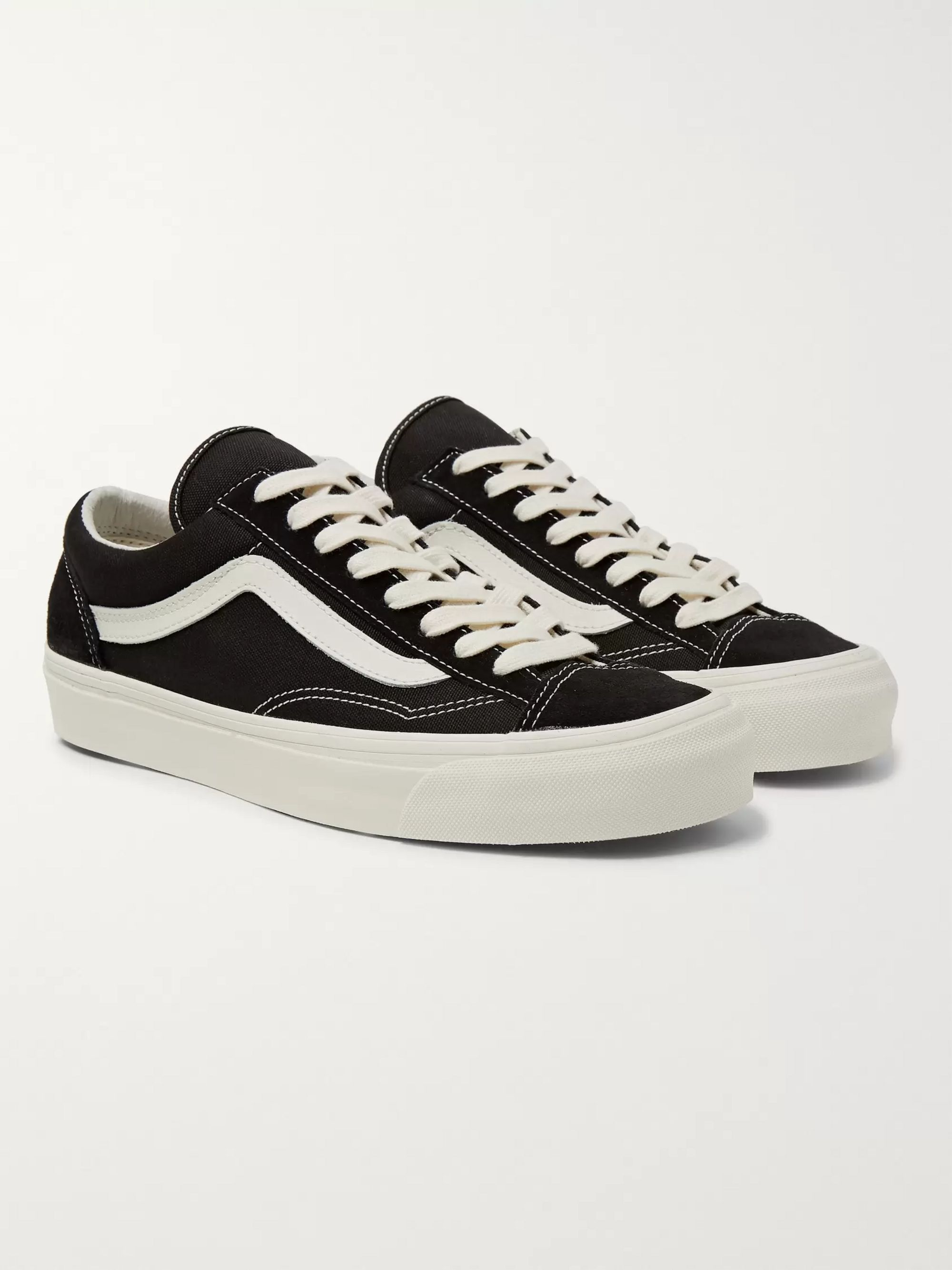 OG Old Skool LX Leather Trimmed Canvas and Suede Sneakers