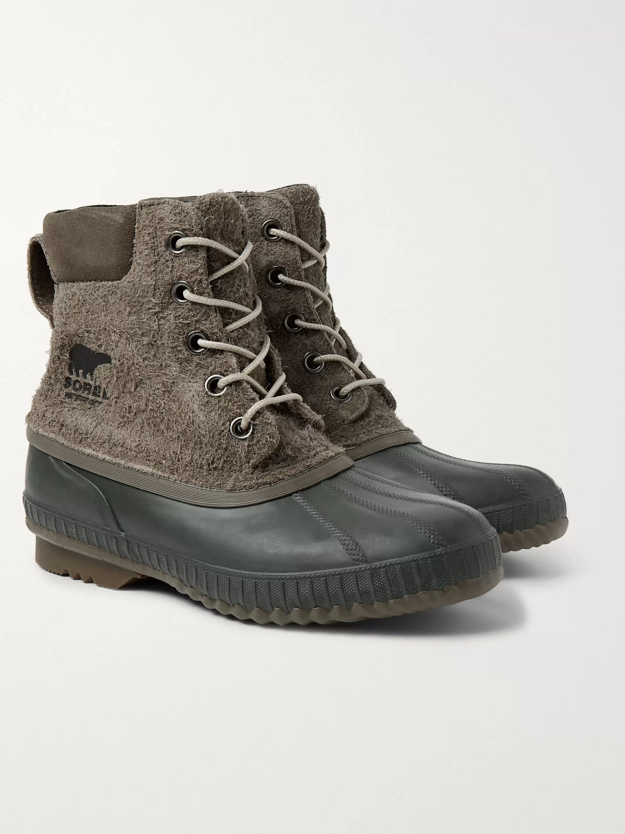 Sorel Cheyanne II Waterproof Textured-Suede and Rubber Boots