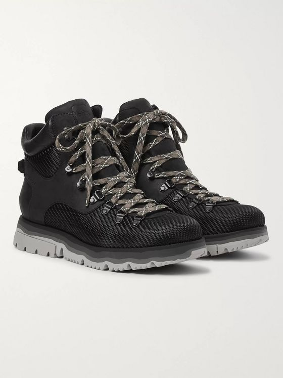 Sorel Atlis Axe Waterproof Canvas-Trimmed Nubuck Boots