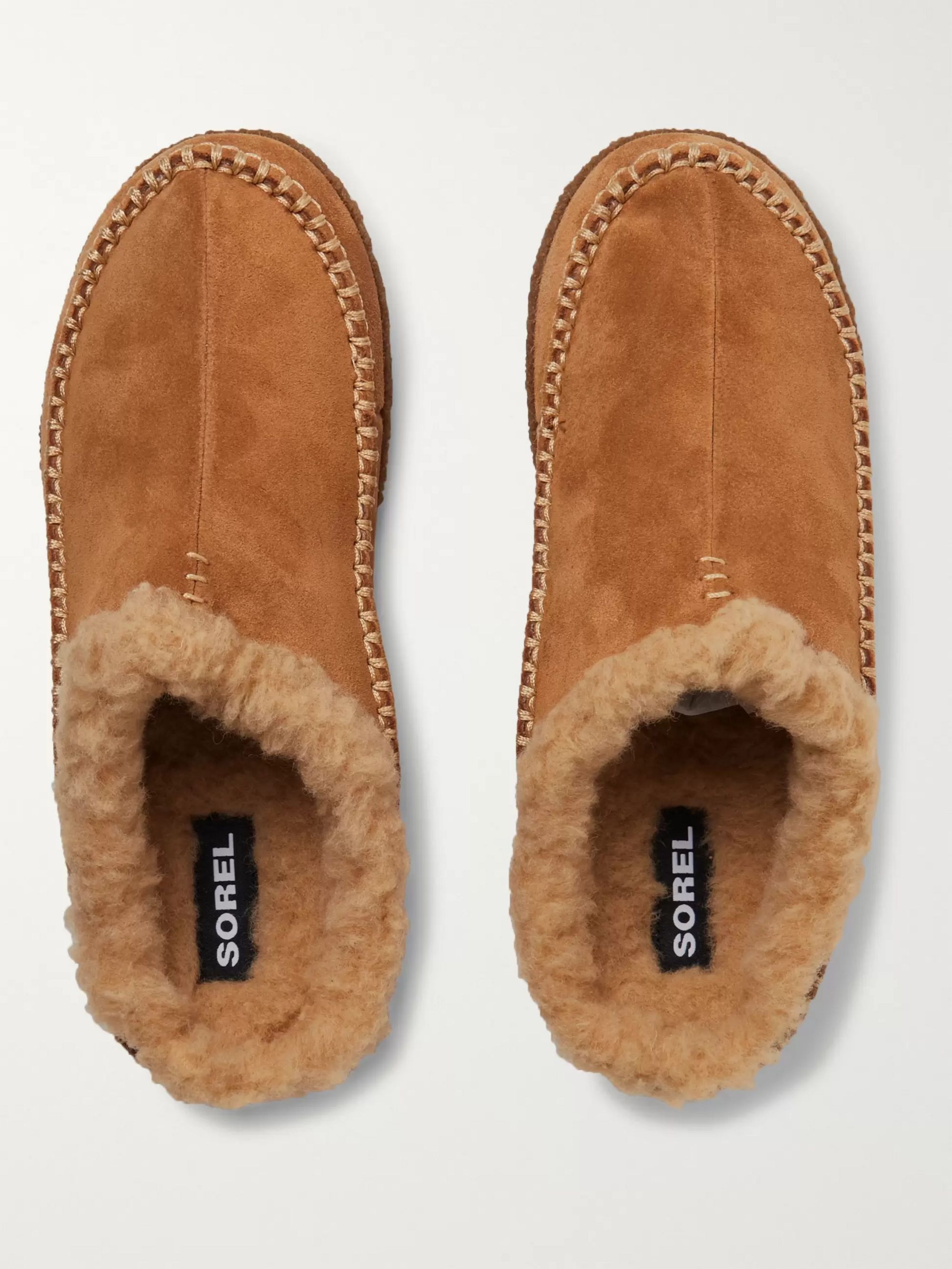 Sorel Falcon Ridge II Fleece-Lined Suede Slippers