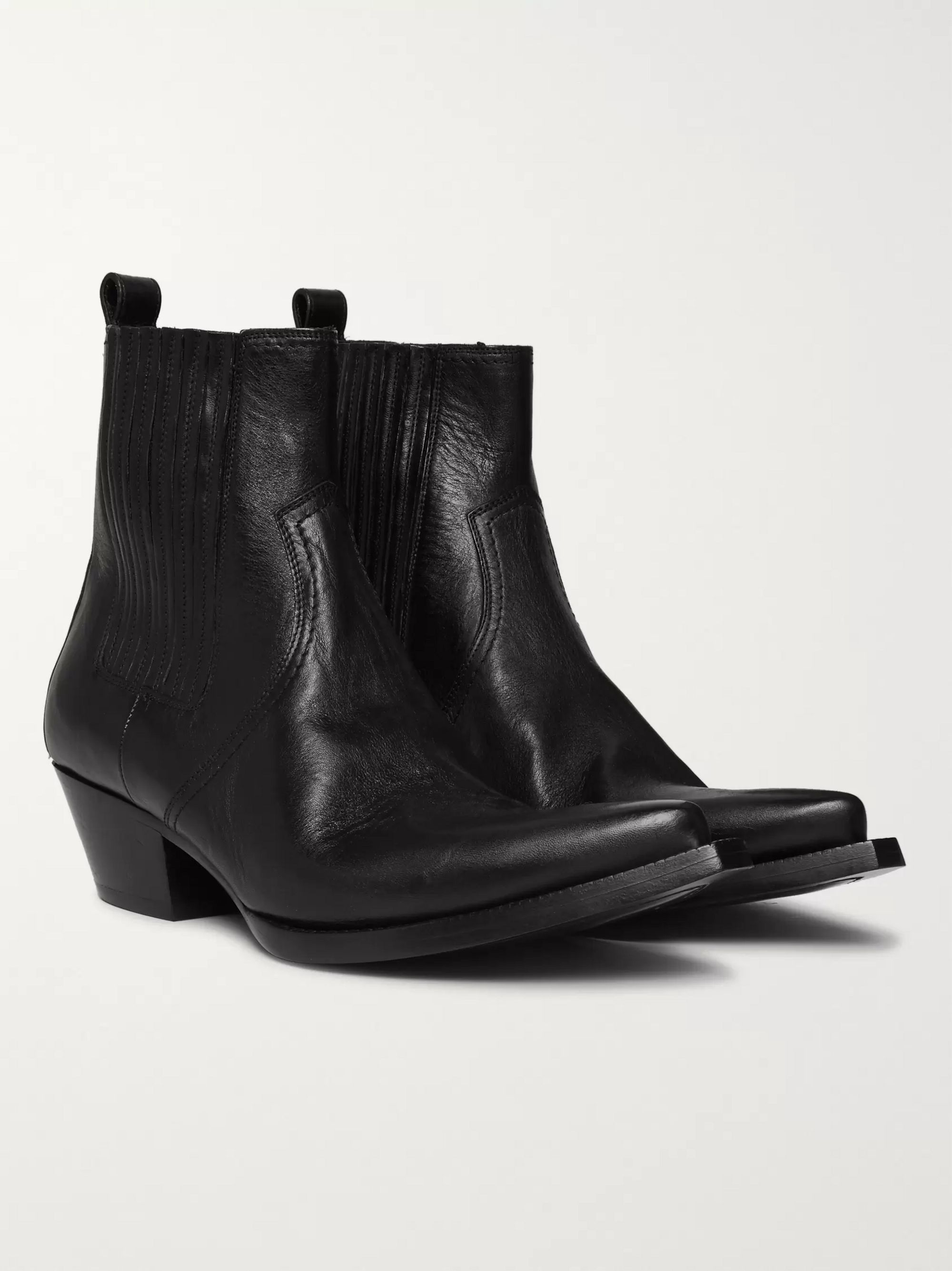 SAINT LAURENT Lucas Leather Chelsea Boots