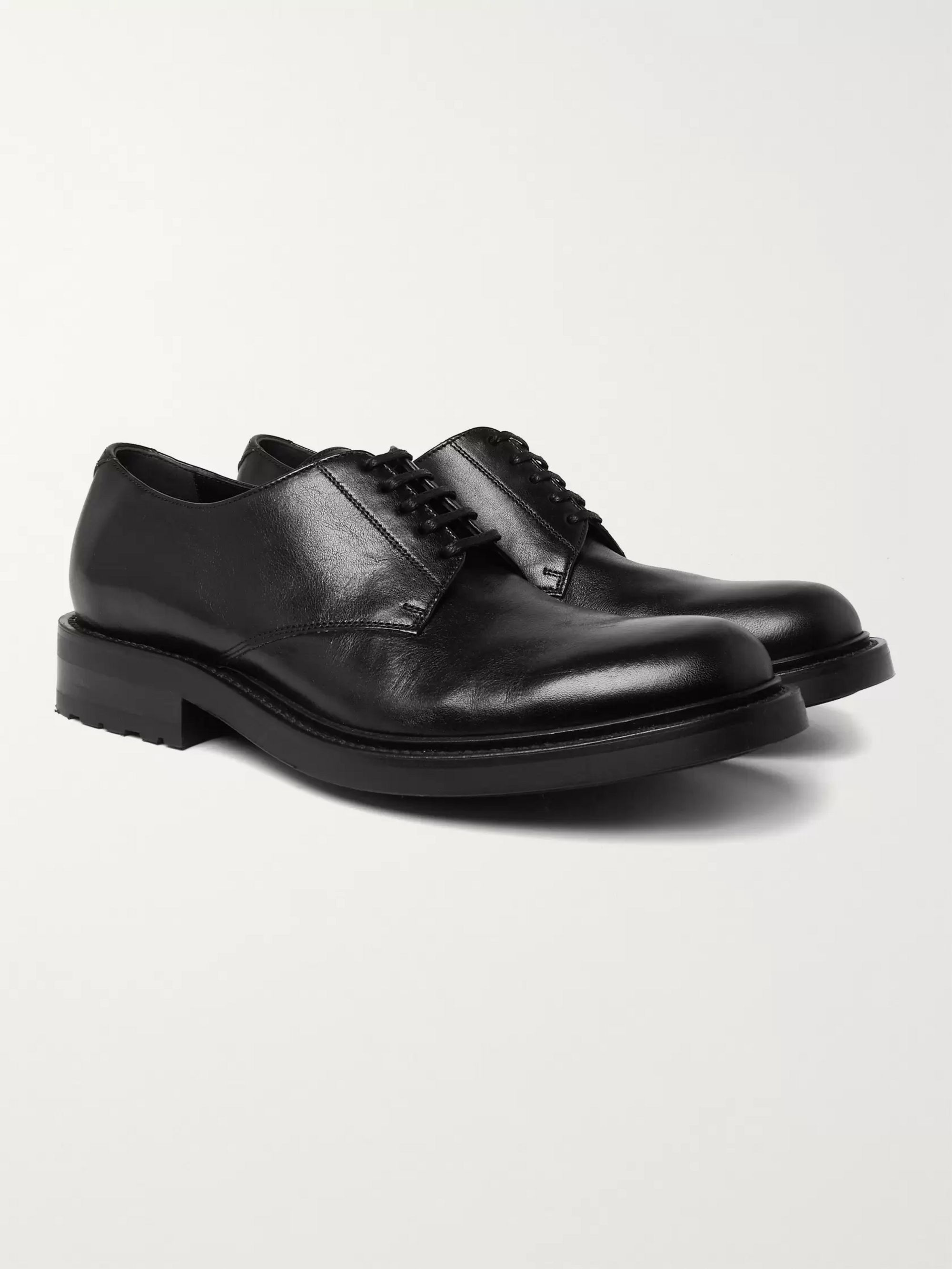 SAINT LAURENT Army Leather Derby Shoes