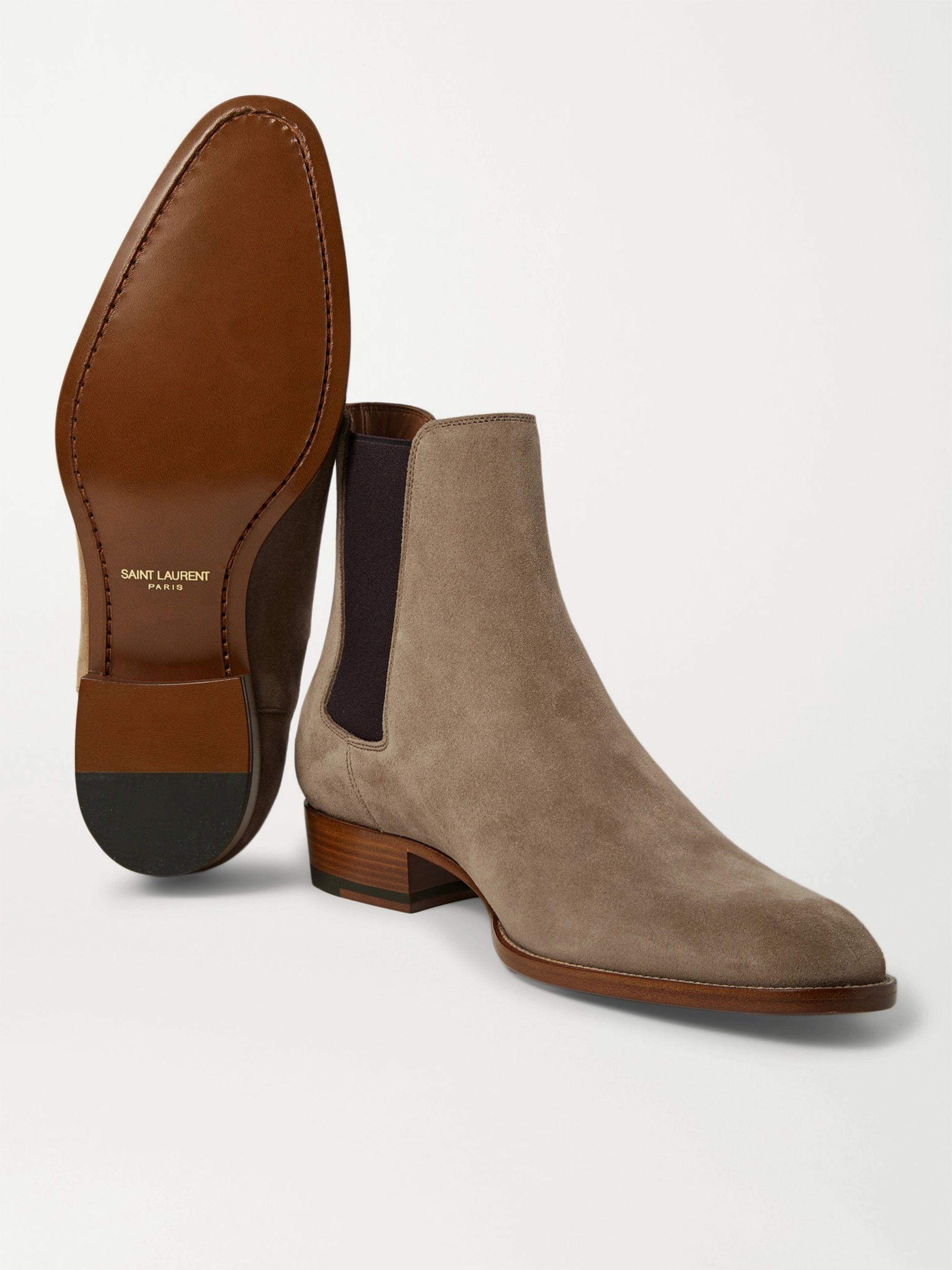 les plus récents choisissez le dégagement en soldes Wyatt Suede Chelsea Boots