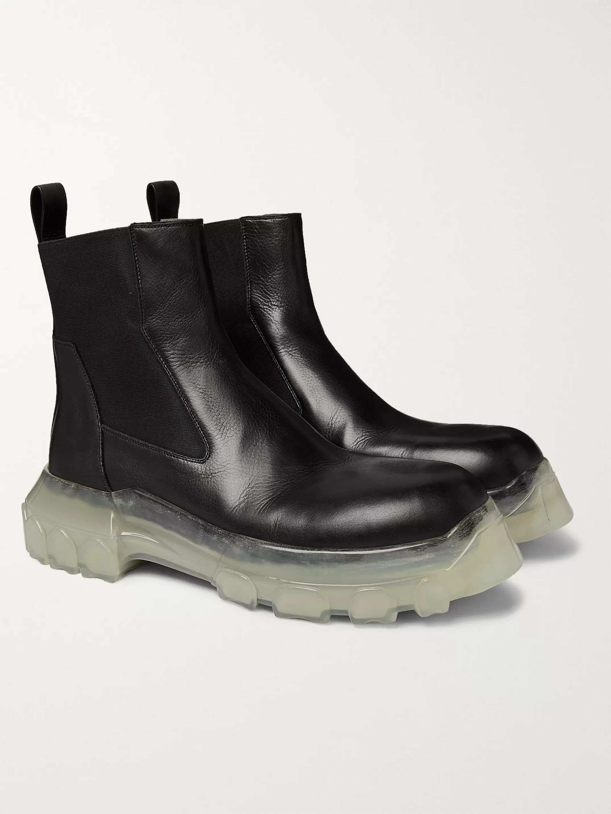 Leather Chelsea Boots by Rick Owens