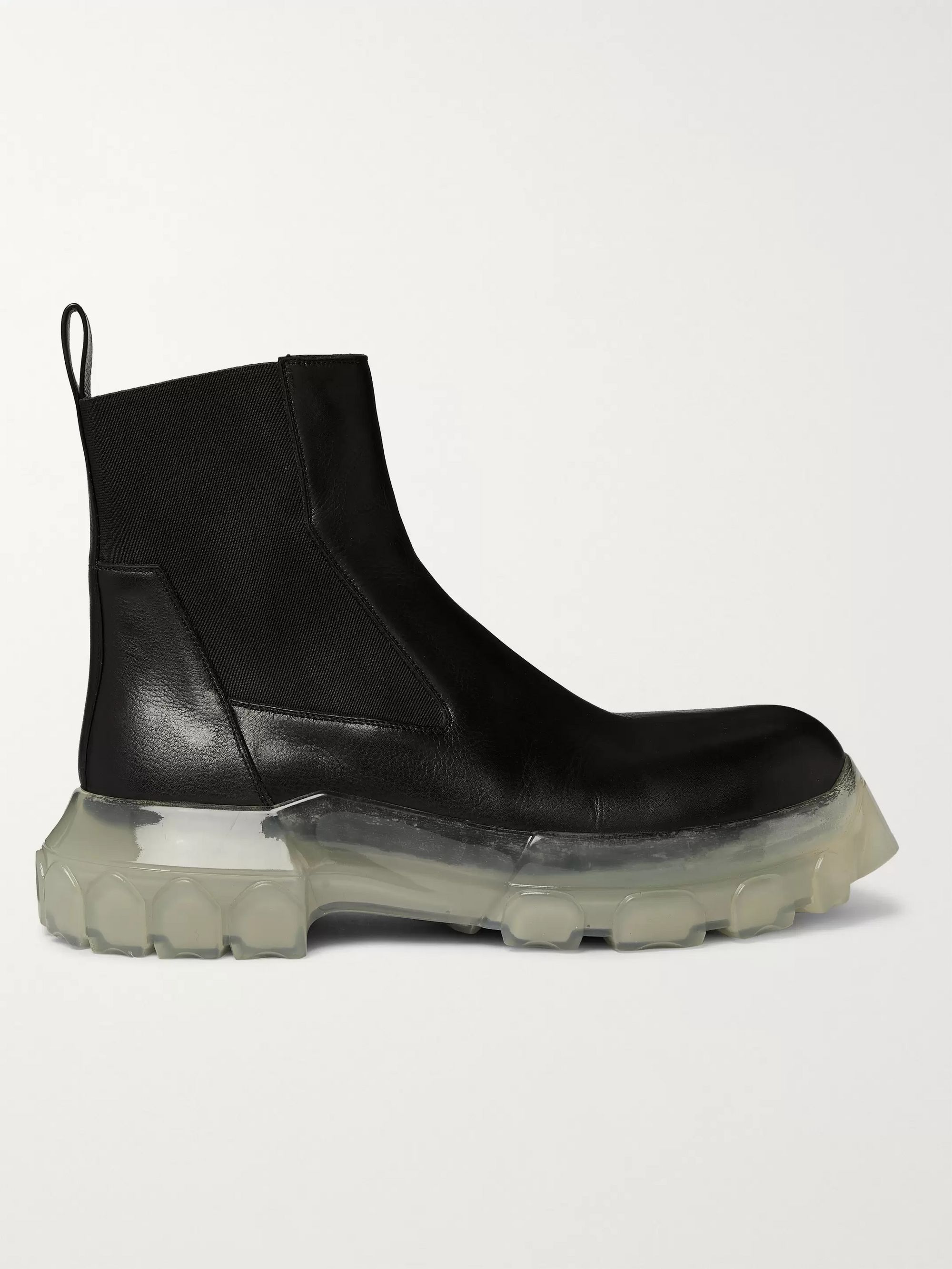 Rick Owens Leather Chelsea Boots