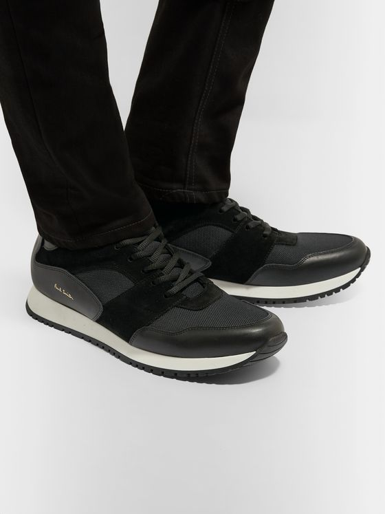 Paul Smith Pioneer Leather, Suede and Mesh Sneakers