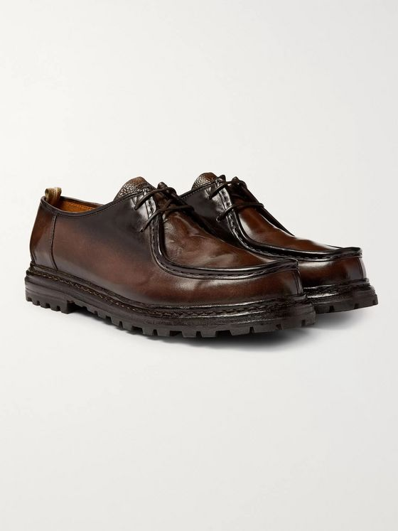 Officine Creative Volcov Polished-Leather Derby Shoes