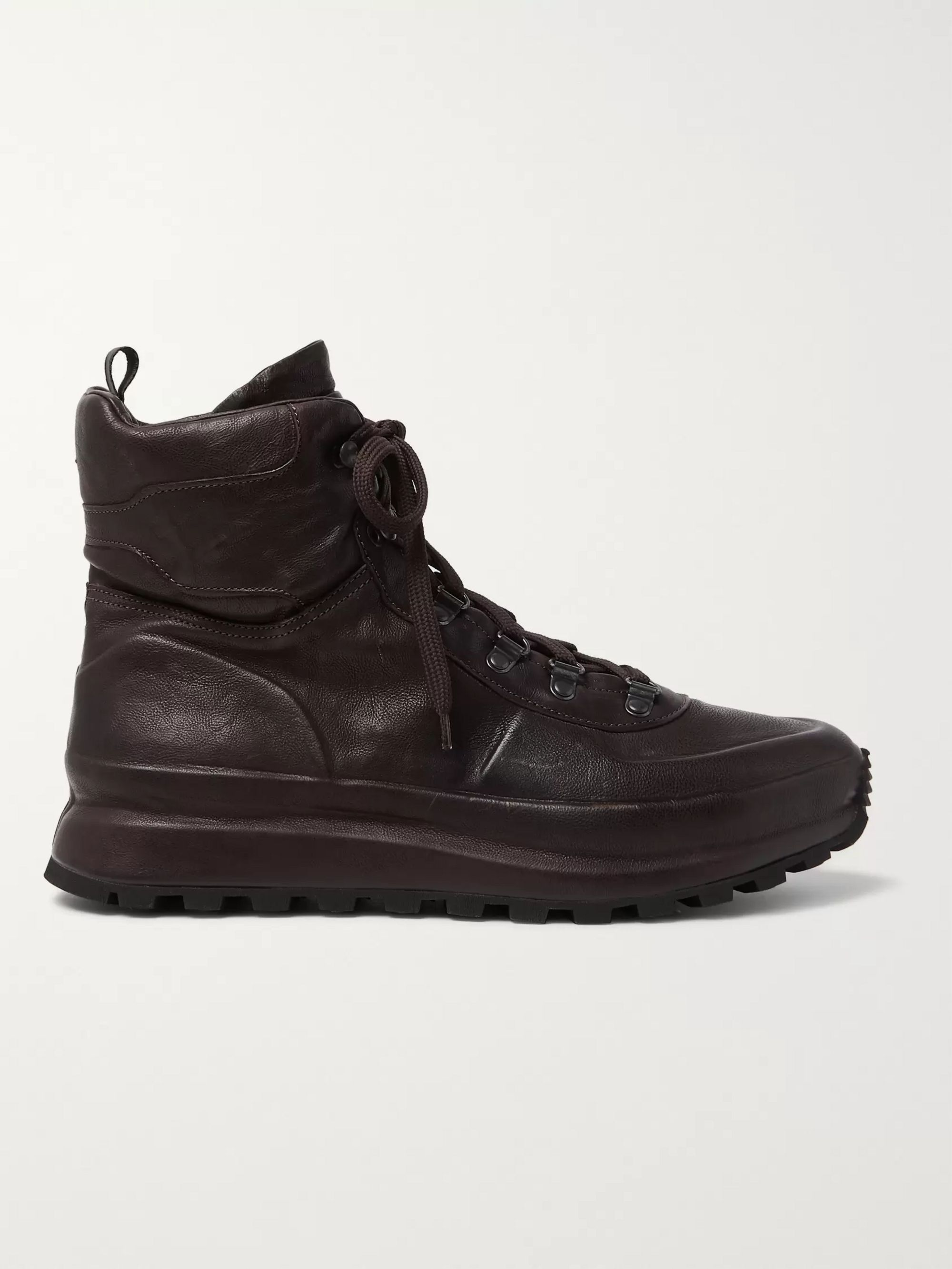 Officine Creative Frontier Shearling-Lined Leather High-Top Sneakers