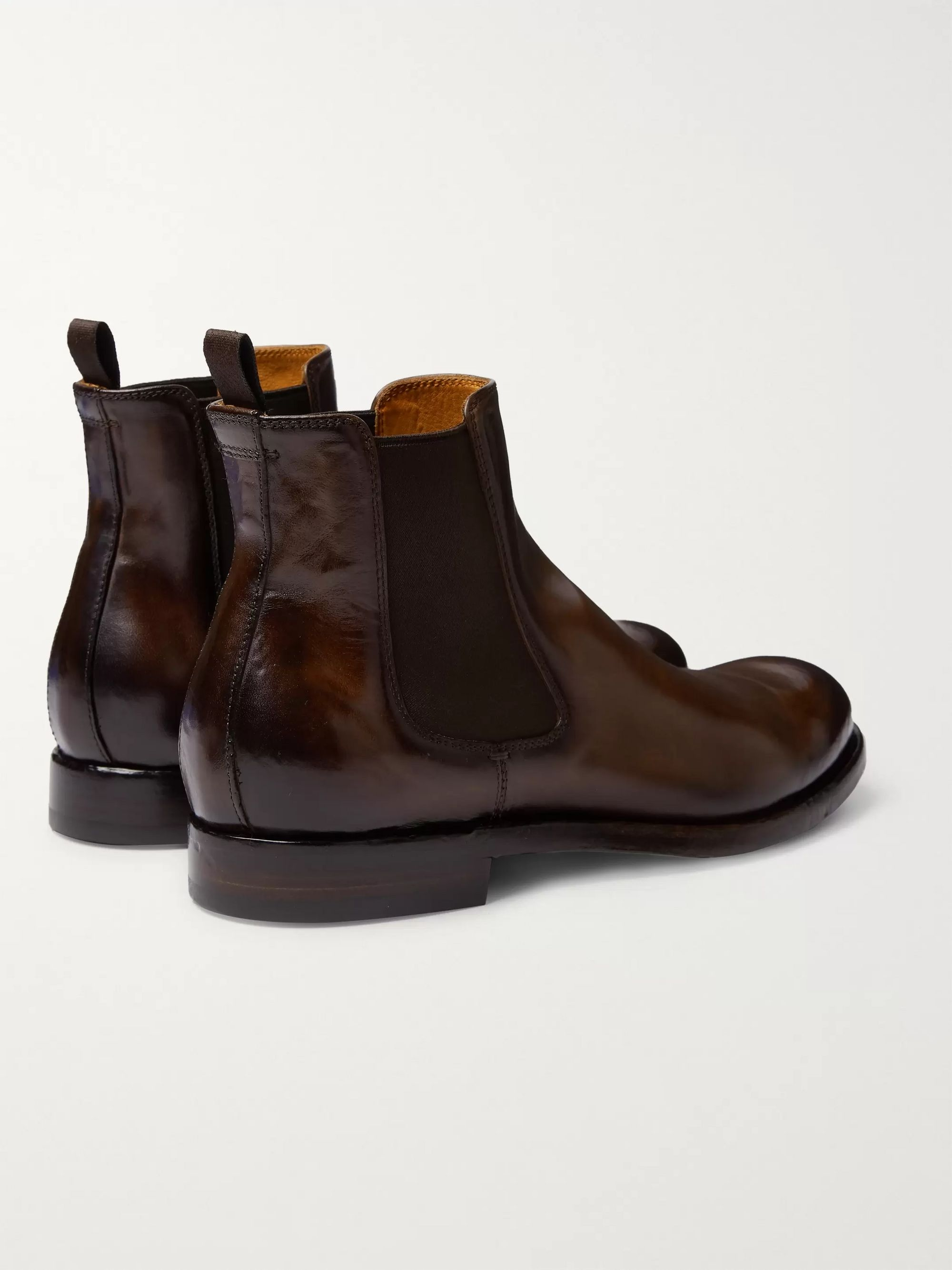 Officine Creative Tempus Polished-Leather Chelsea Boots