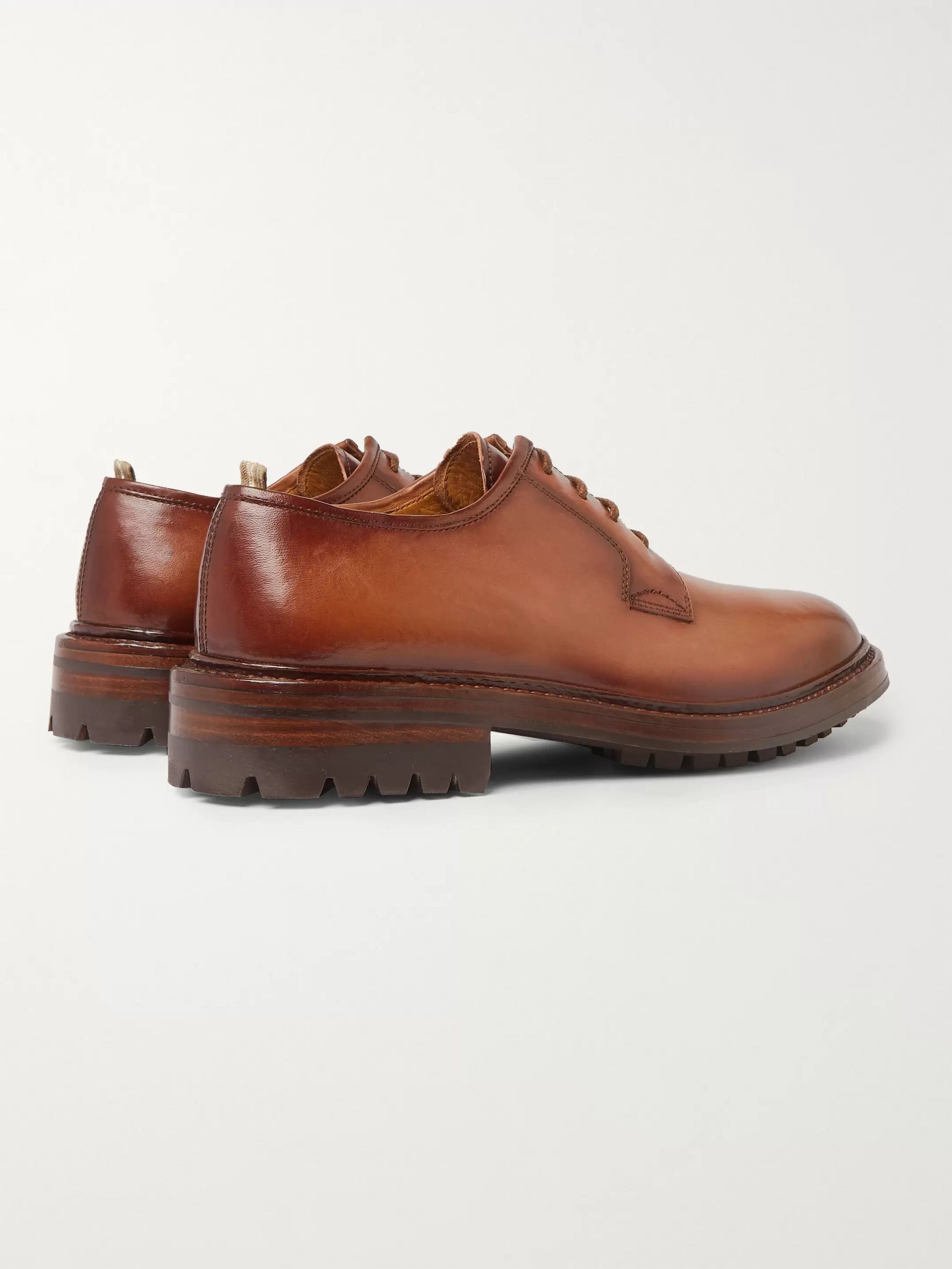 Officine Creative Sheffield Polished-Leather Derby Shoes