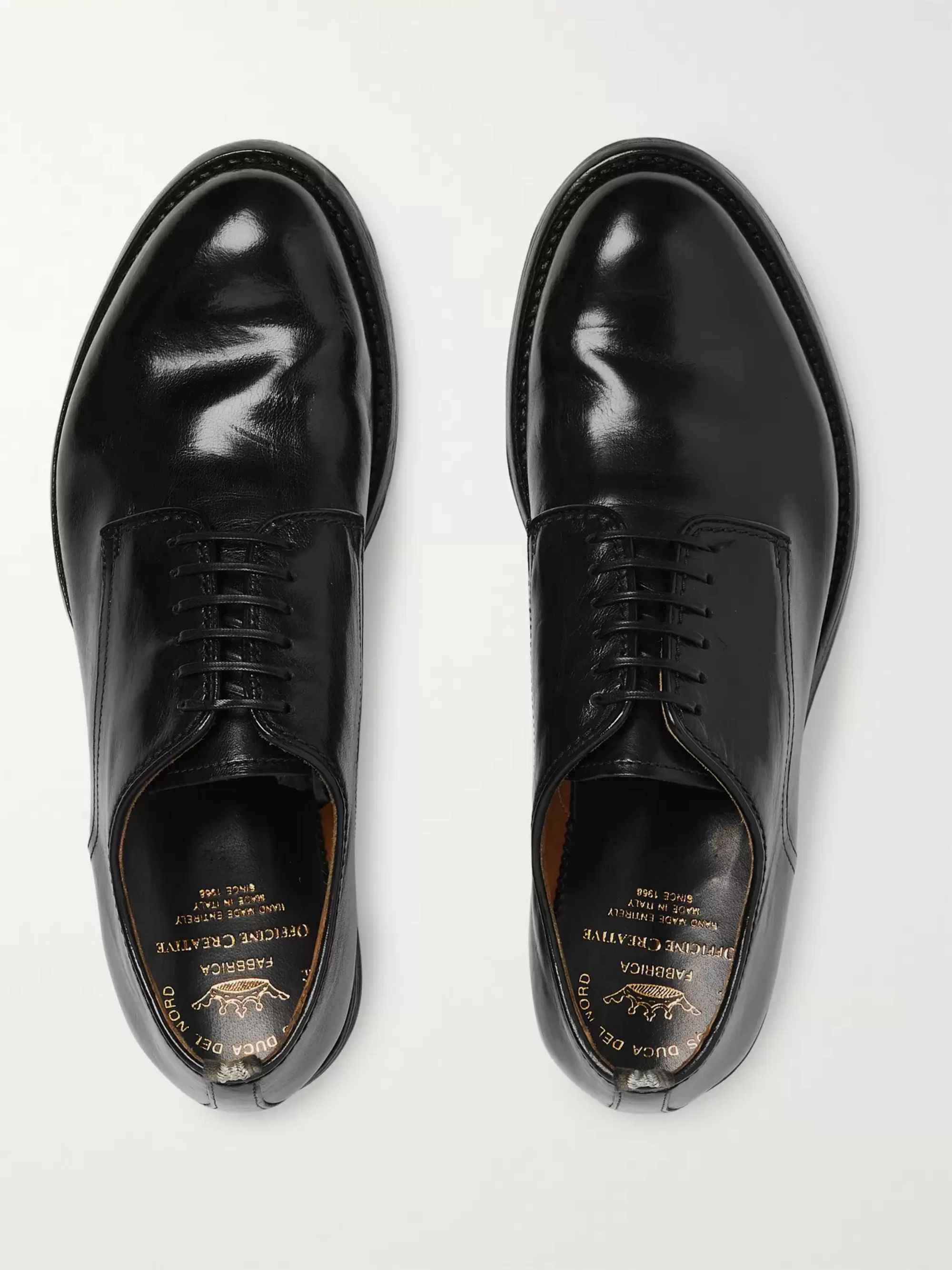 Officine Creative Anatomia Polished-Leather Derby Shoes