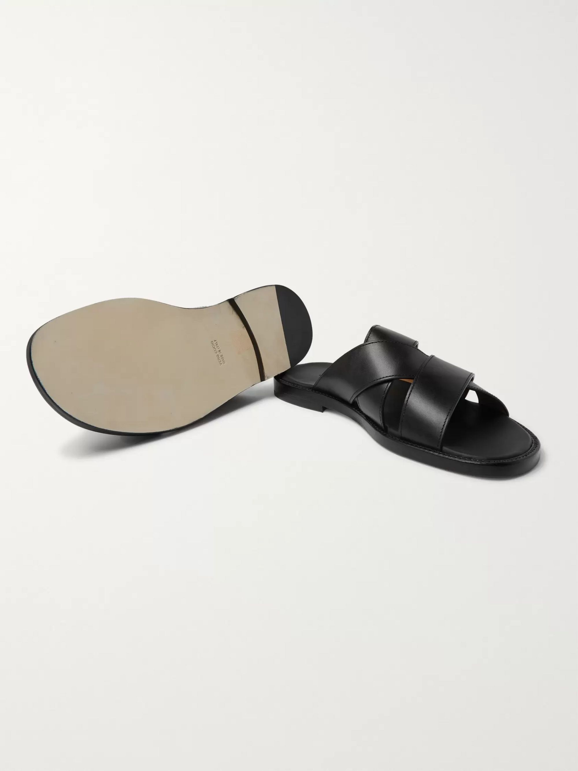 John Lobb Cross Leather Sandals