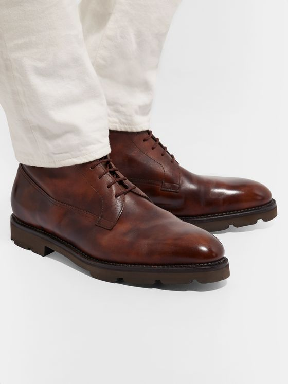 John Lobb Alder Burnished-Leather Boots