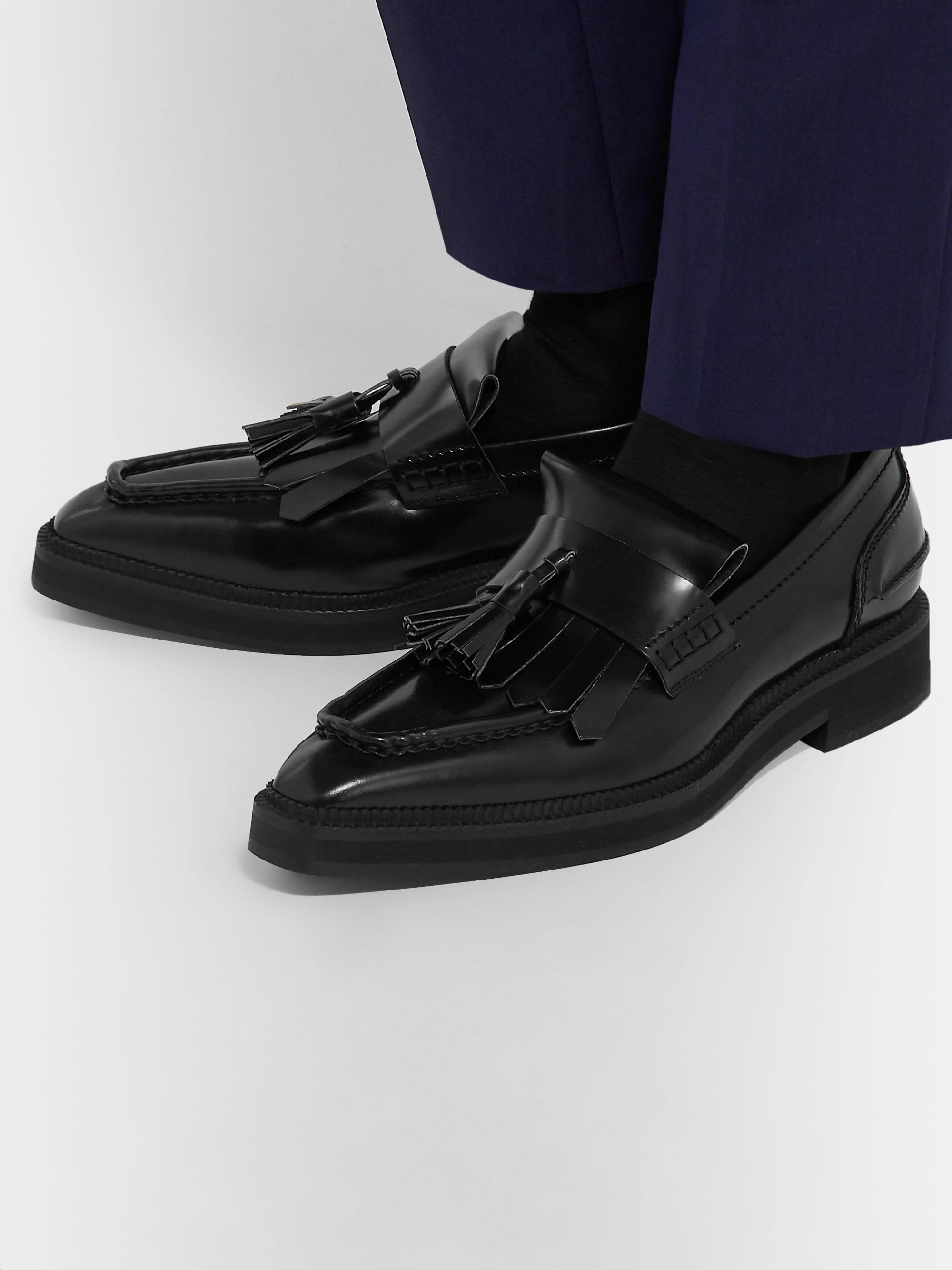 Alexander McQueen Spazzolato Leather Tasselled Loafers