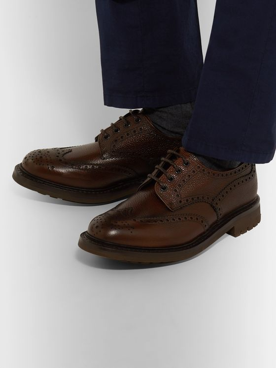 Church's McPherson Pebble-Grain Leather Wingtip Brogues